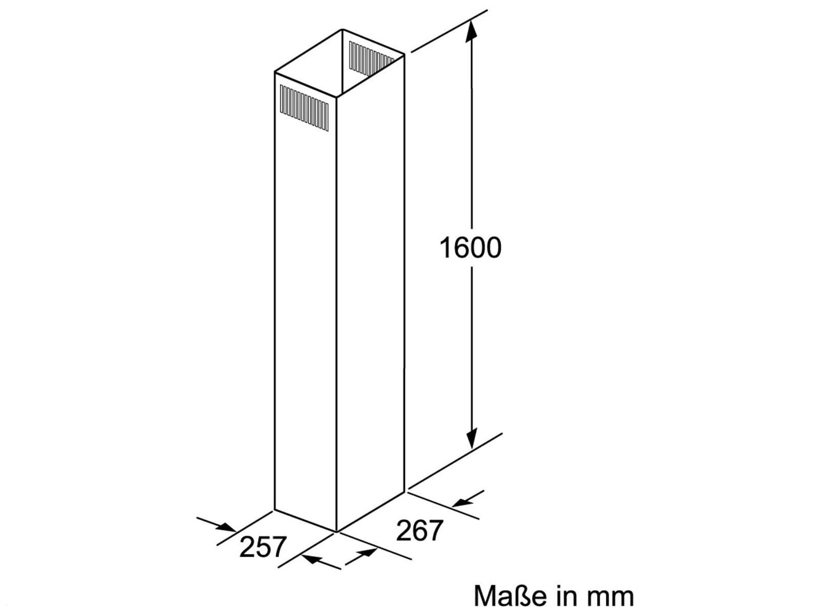 Siemens LZ12375 Kaminverlängerung 1600 mm