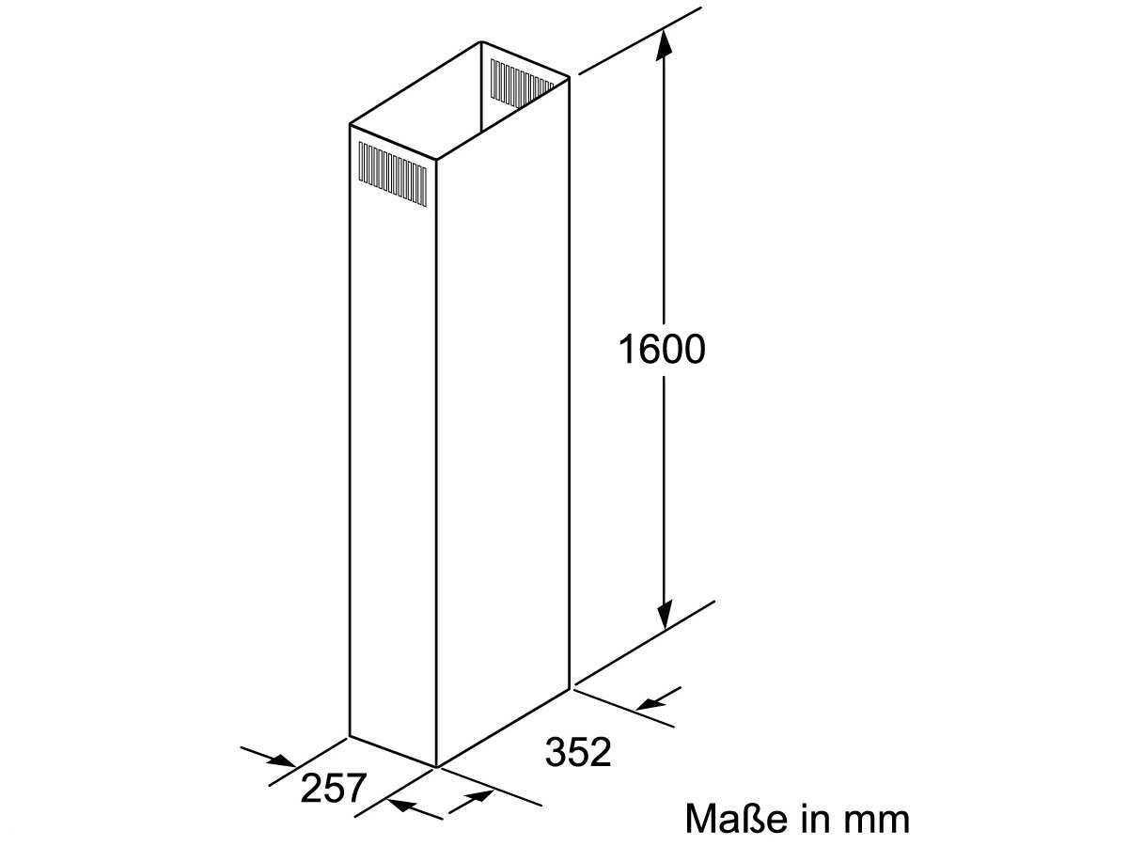 Siemens LZ12385 Kaminverlängerung 1600 mm
