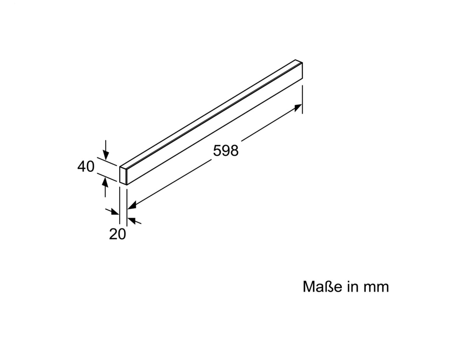 Siemens LZ46850 Design-Griffleiste 60cm