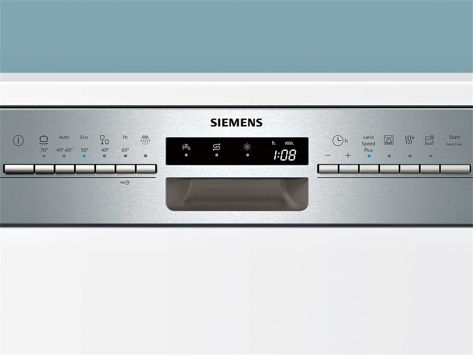 Siemens SN536S03ME Teilintegrierbarer Einbaugeschirrspüler Edelstahl