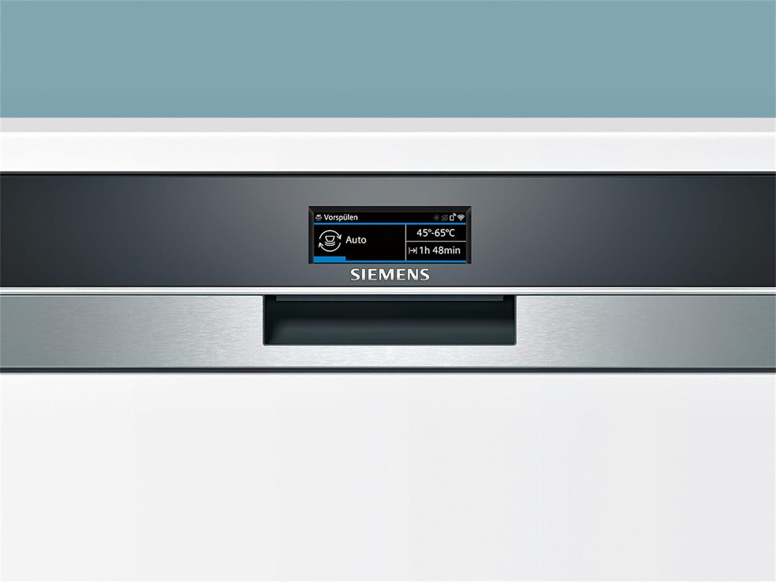 Siemens SN578S36TE Teilintegrierbarer Einbaugeschirrspüler Edelstahl