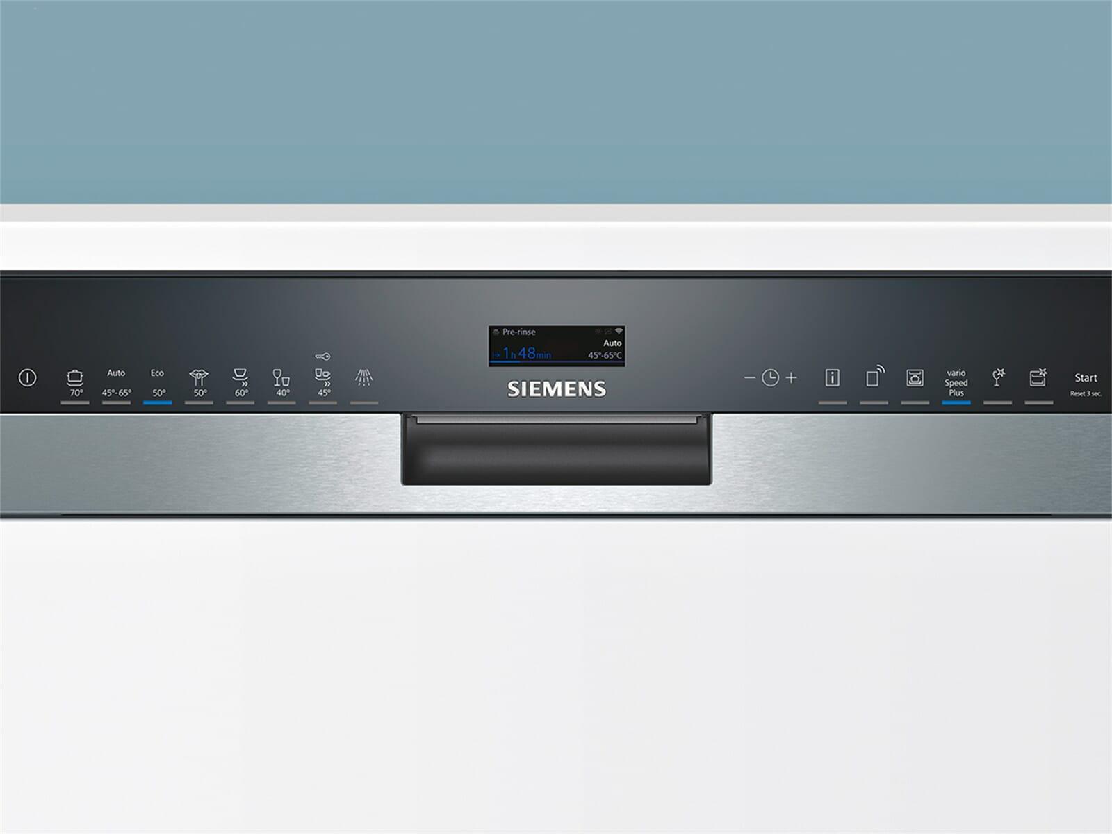 Siemens SX558S06TE Teilintegrierbarer Einbaugeschirrspüler Edelstahl XXL