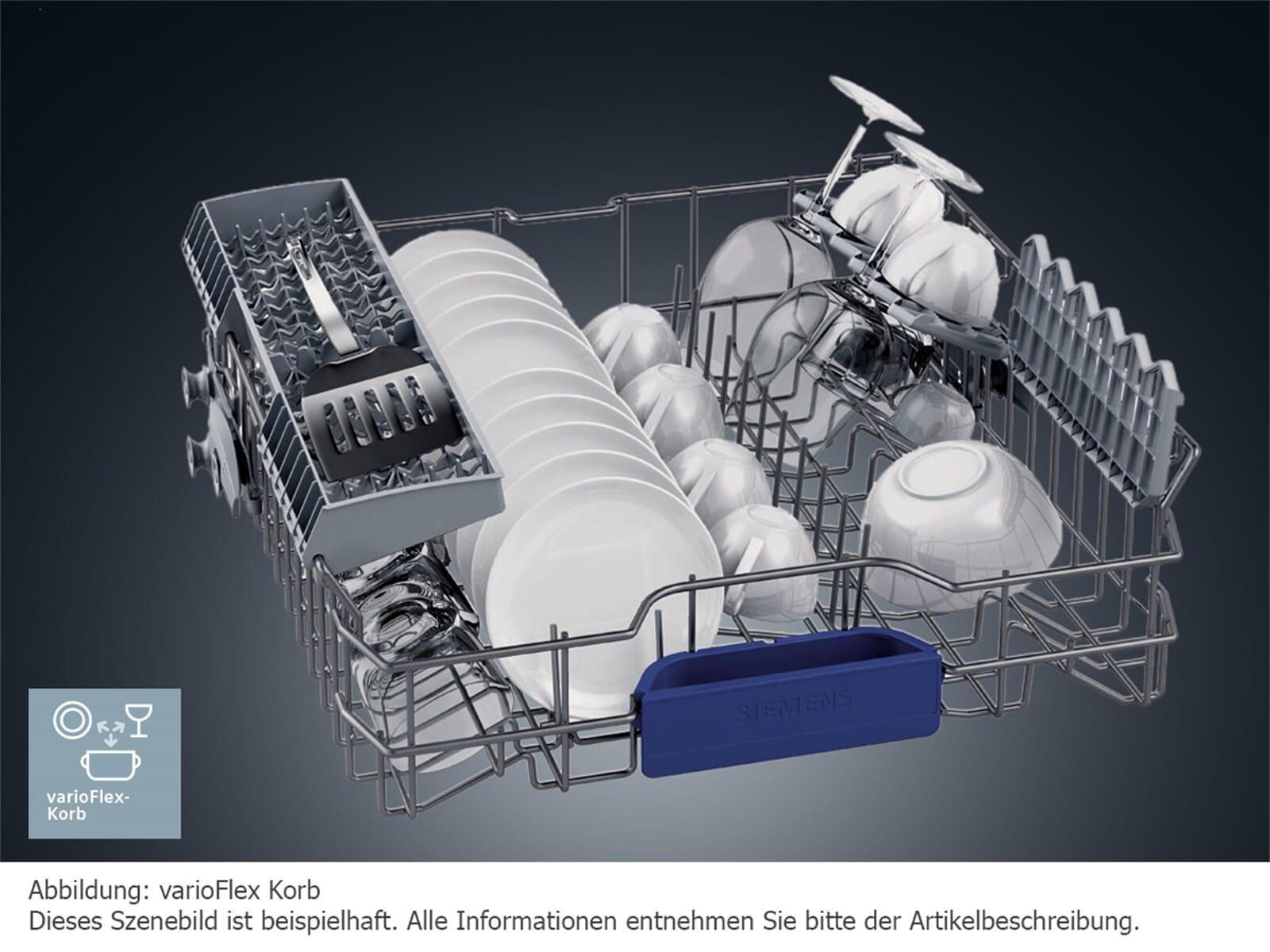 Siemens SN558S02ME Teilintegrierbarer Einbaugeschirrspüler Edelstahl