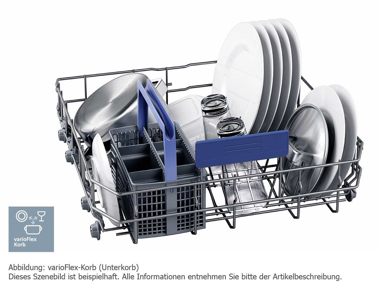 Siemens SN336W01GE Unterbaugeschirrspüler Weiß