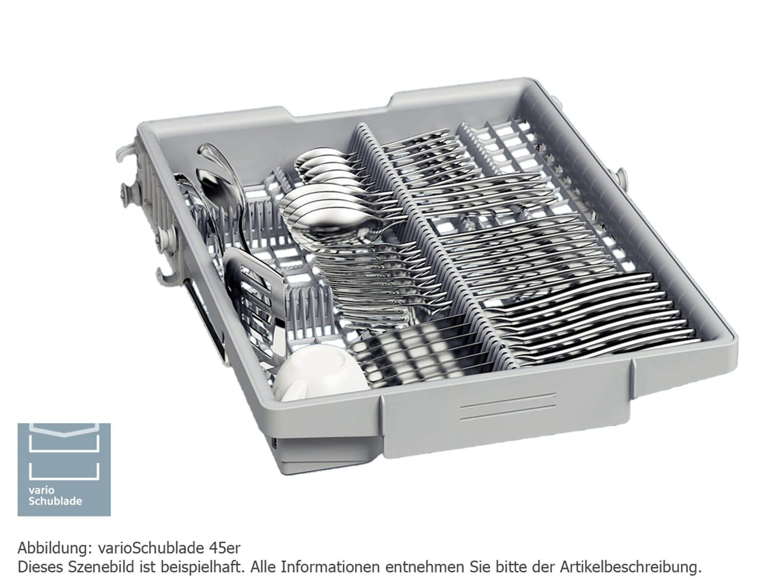 Siemens SR536S01ME Teilintegrierbarer Einbaugeschirrspüler