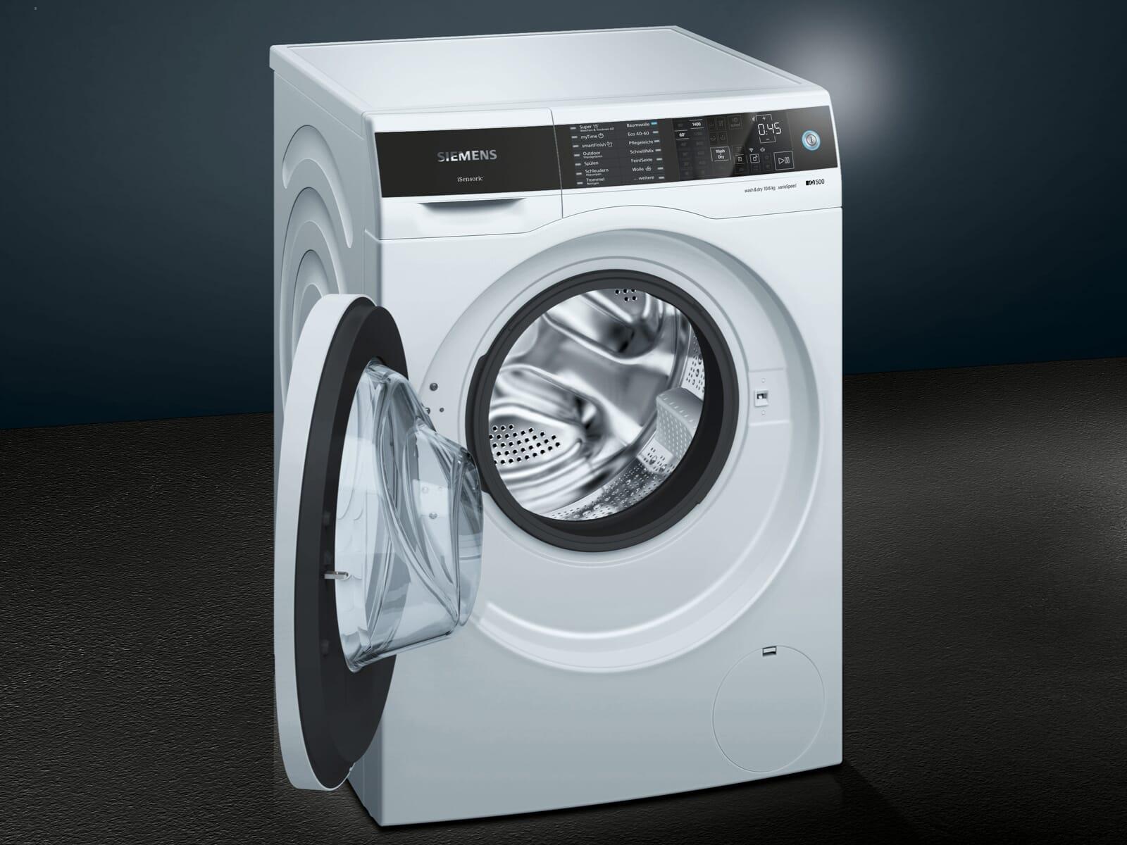 Siemens WD14U512 Waschtrockner Weiß