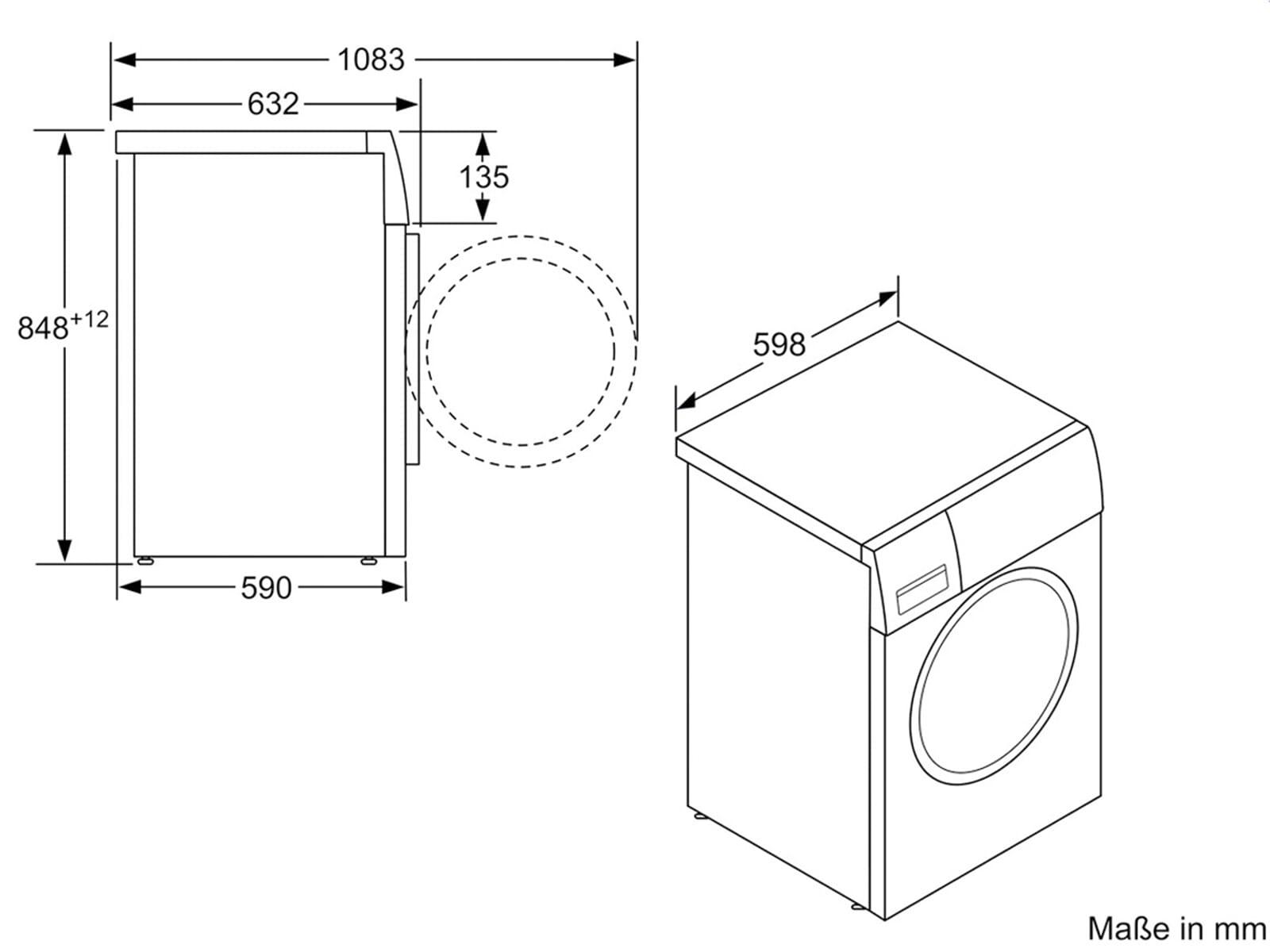 waschmaschine abmessungen