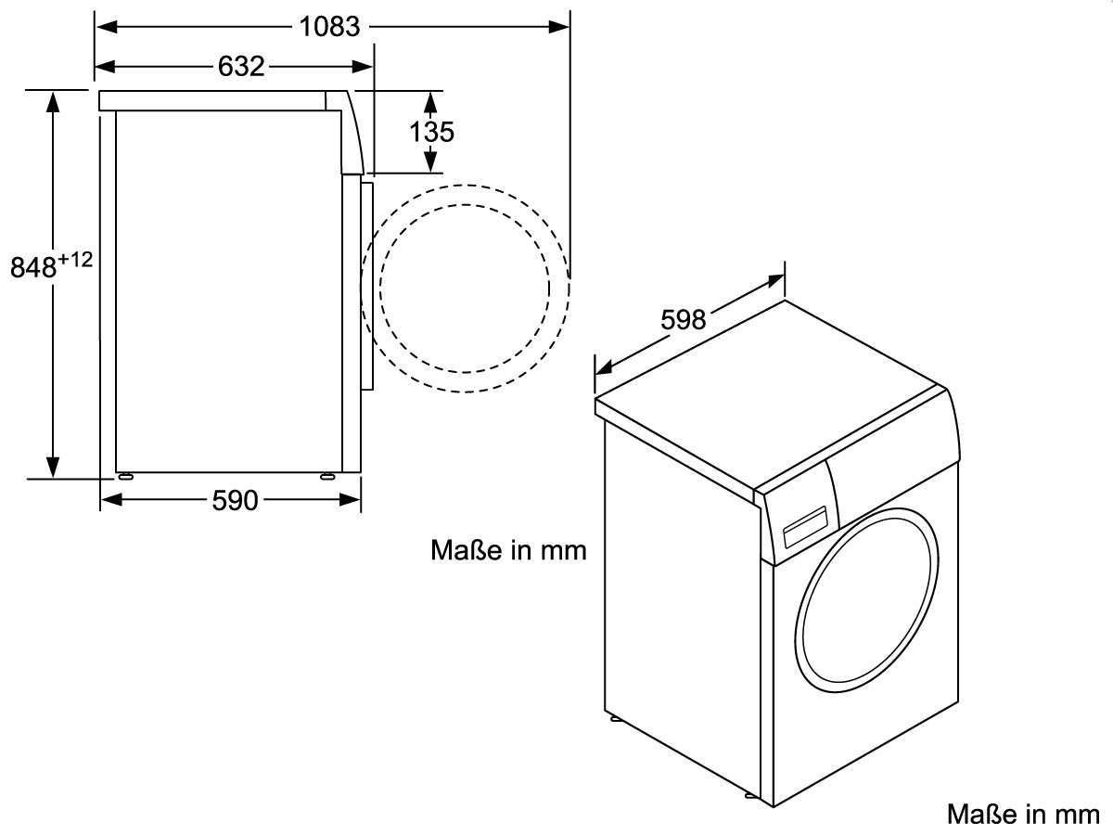 Beliebt Siemens WM14W550 Waschmaschine Weiß YZ75