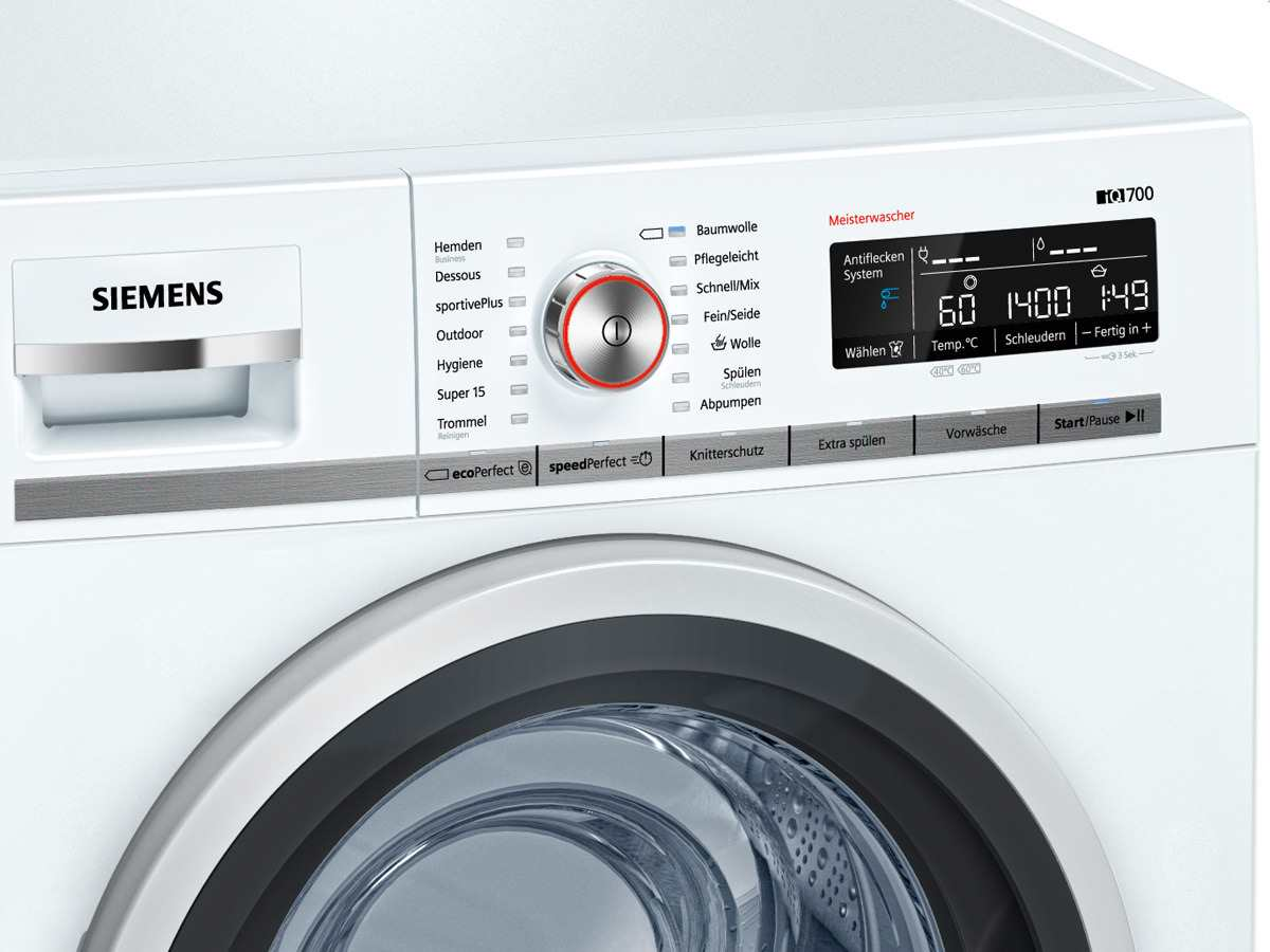 Siemens wm14w5fcb waschmaschine weiß
