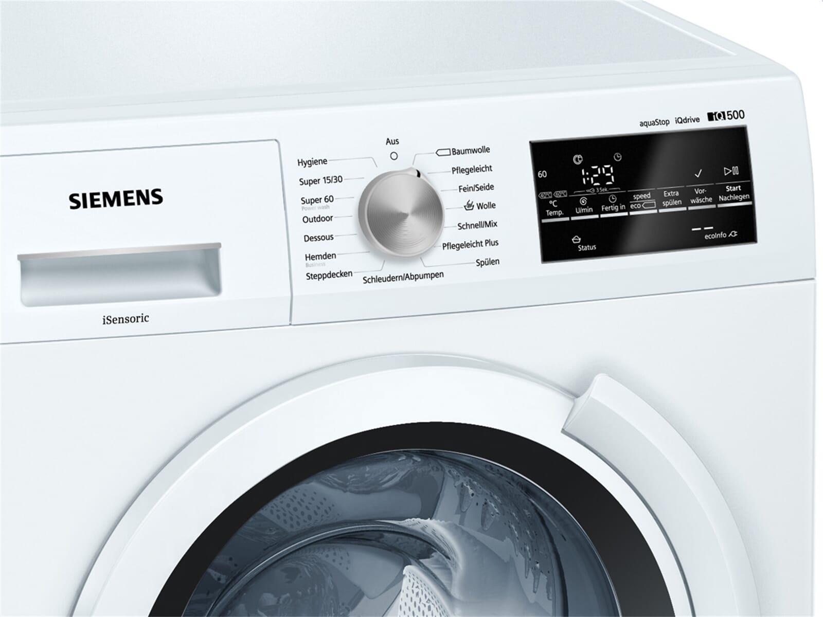 siemens ws12t440 waschmaschine wei. Black Bedroom Furniture Sets. Home Design Ideas