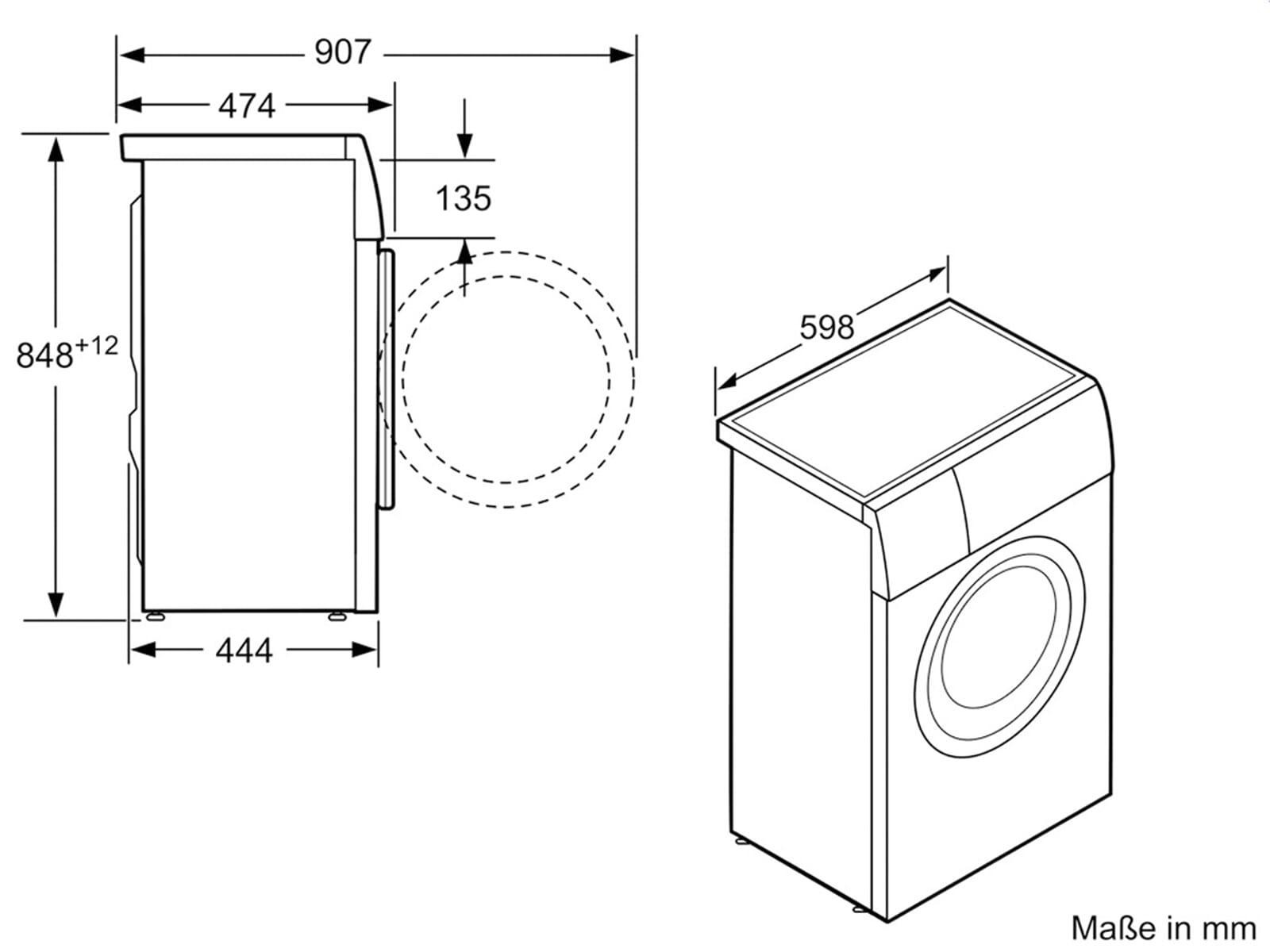siemens ws12t440 waschmaschine wei ebay. Black Bedroom Furniture Sets. Home Design Ideas