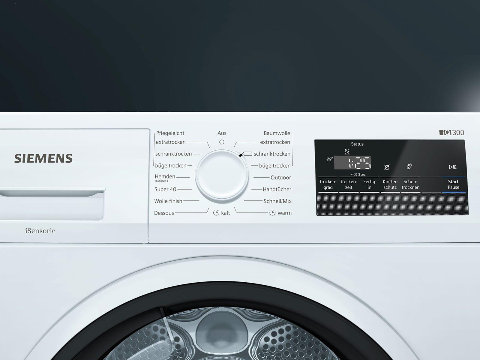 Siemens WT45RVA1 Trockner Weiß