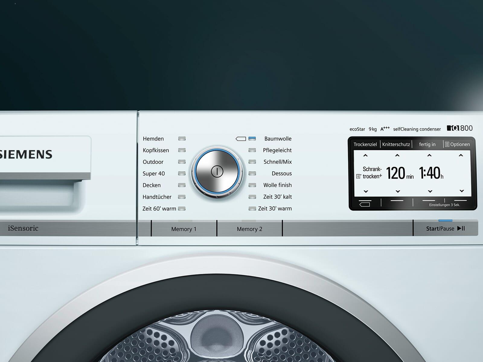 Siemens wt y w trockner weiß