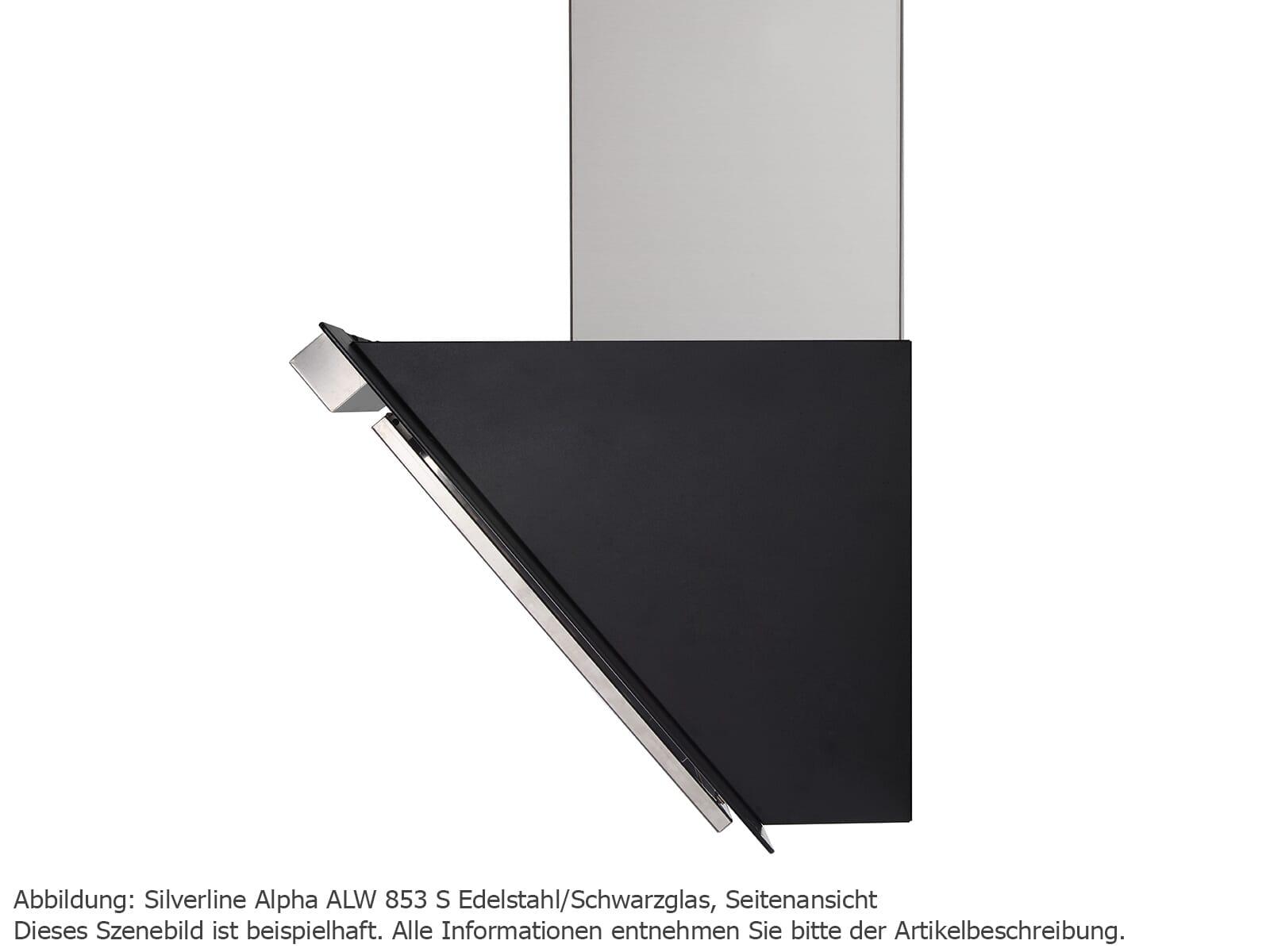 Silverline Alpha ALW 953 S Kopffreihaube Edelstahl/Schwarzglas