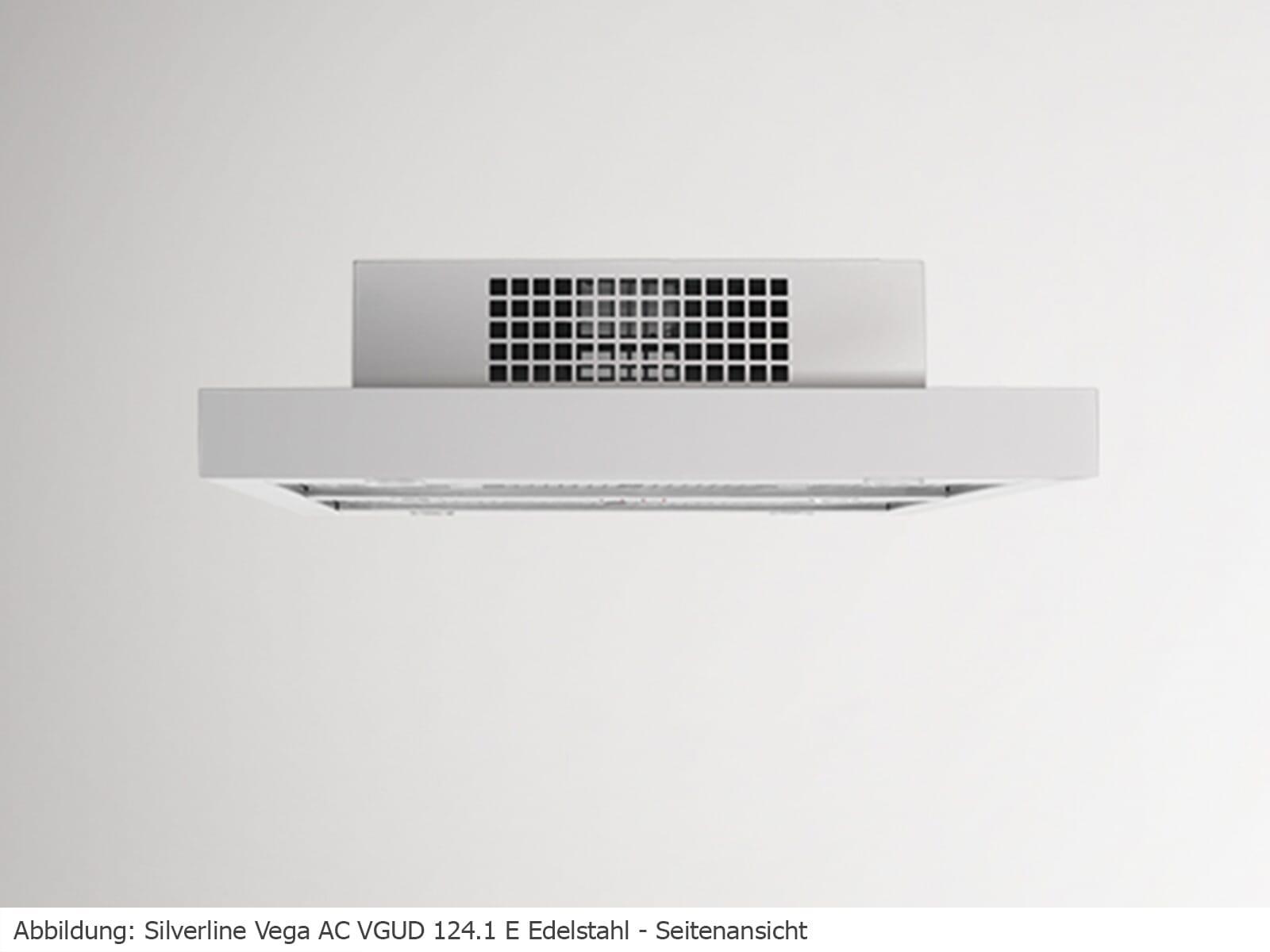 Silverline Vega AC VGUD 124.1 E Deckenhaube Edelstahl