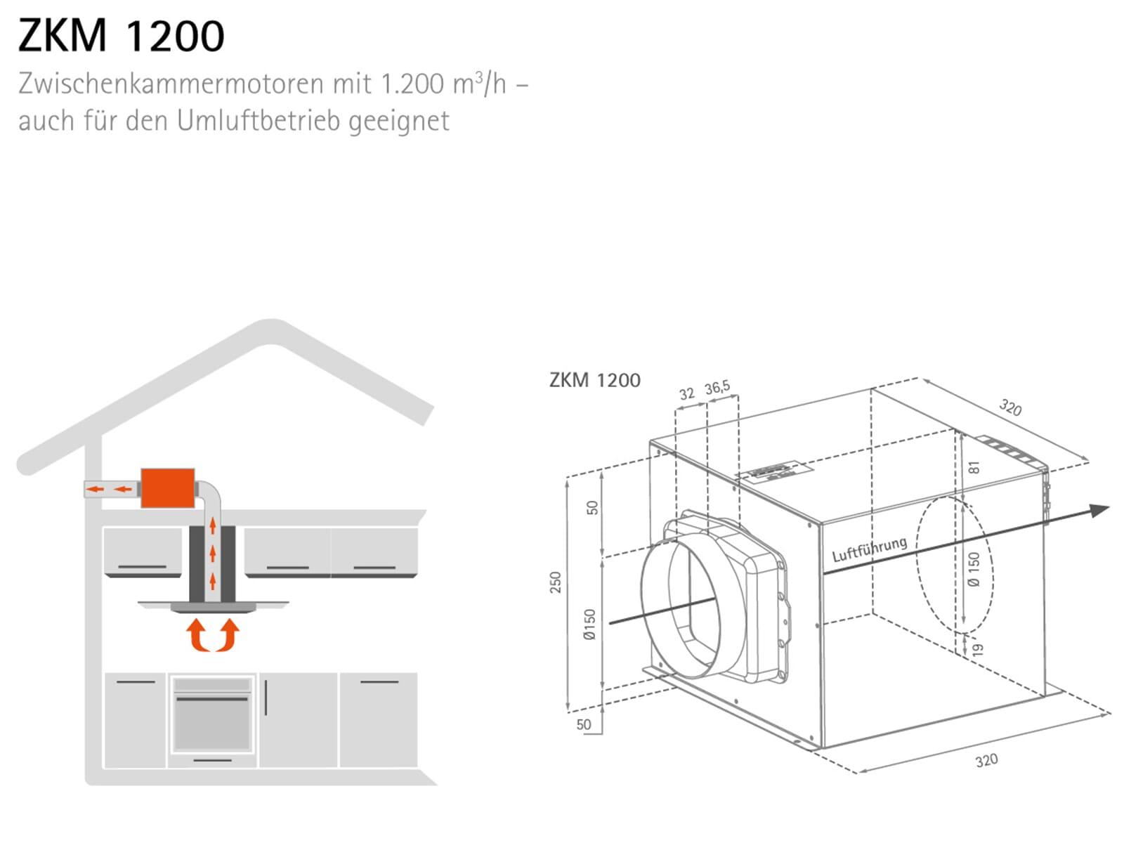 Silverline ZKM 1200 Zwischenkammermotor