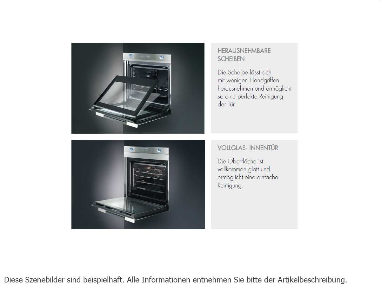 Smeg SC45MFNE2 Kompakt Backofen Schwarz