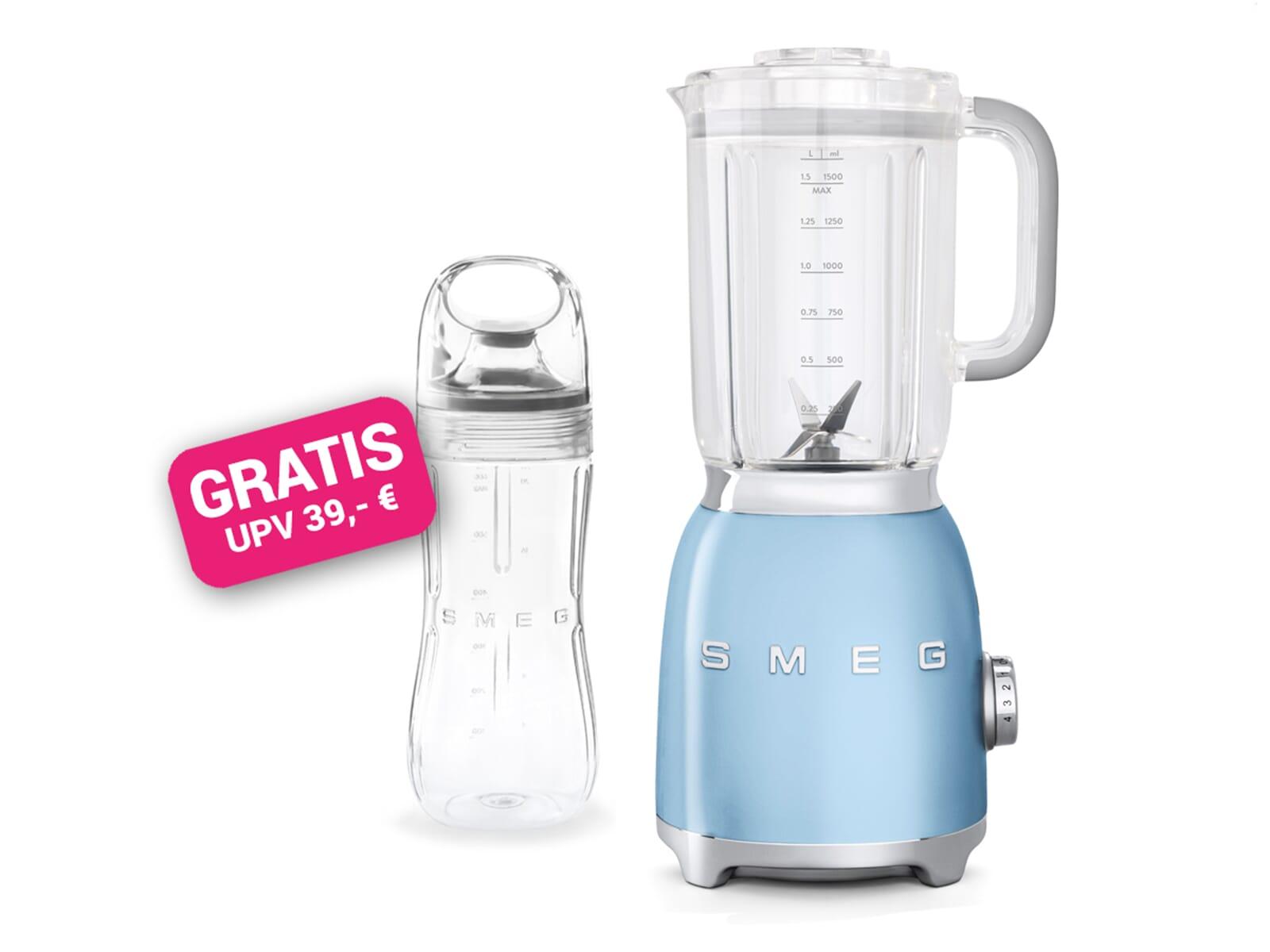 Smeg Kühlschrank Pastellblau : Smeg blf pbeu standmixer pastellblau inkl gratis trinkflasche bgf