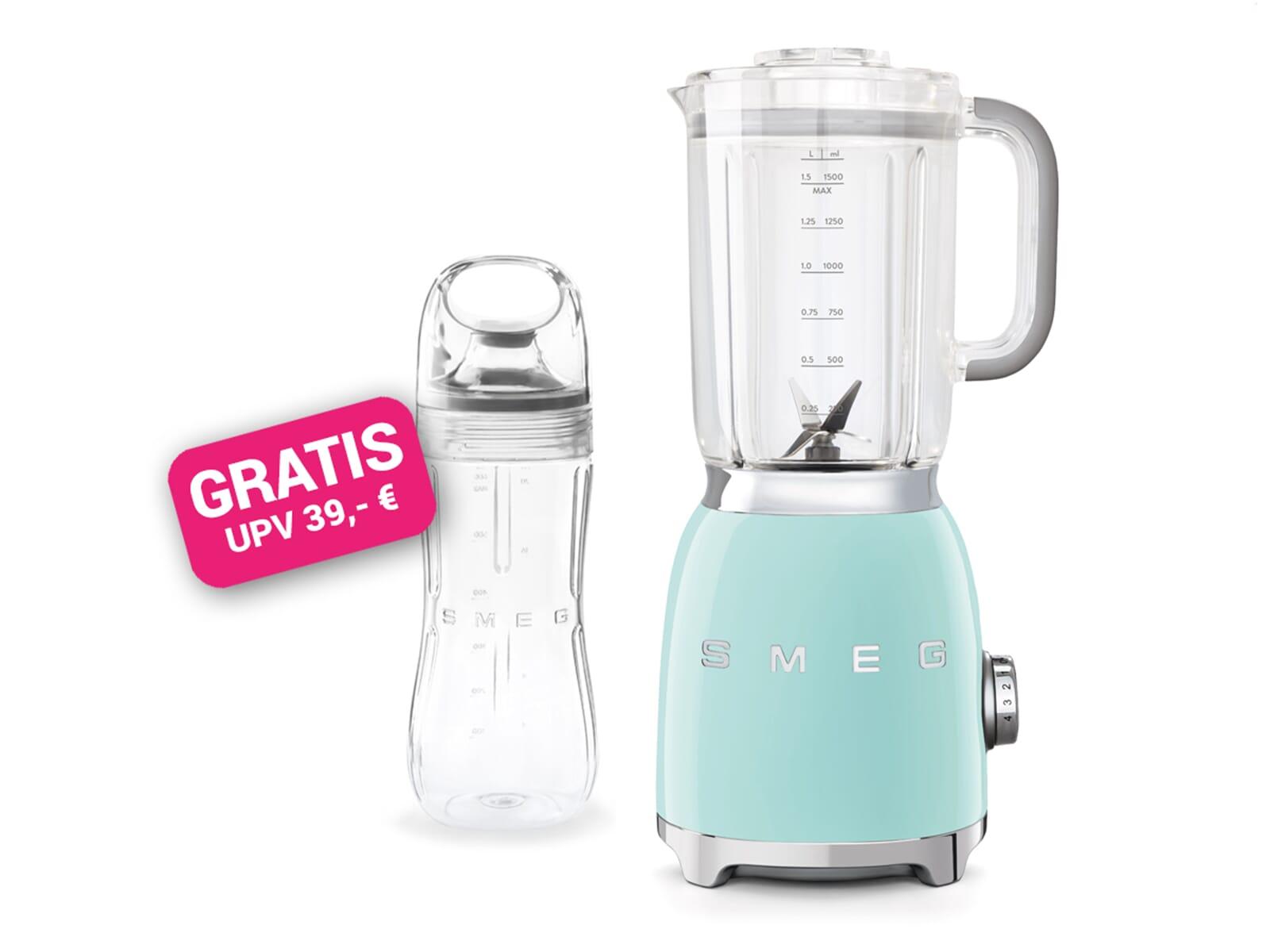 Smeg BLF01PGEU Standmixer Pastelgrün inkl. GRATIS Trinkflasche BGF01