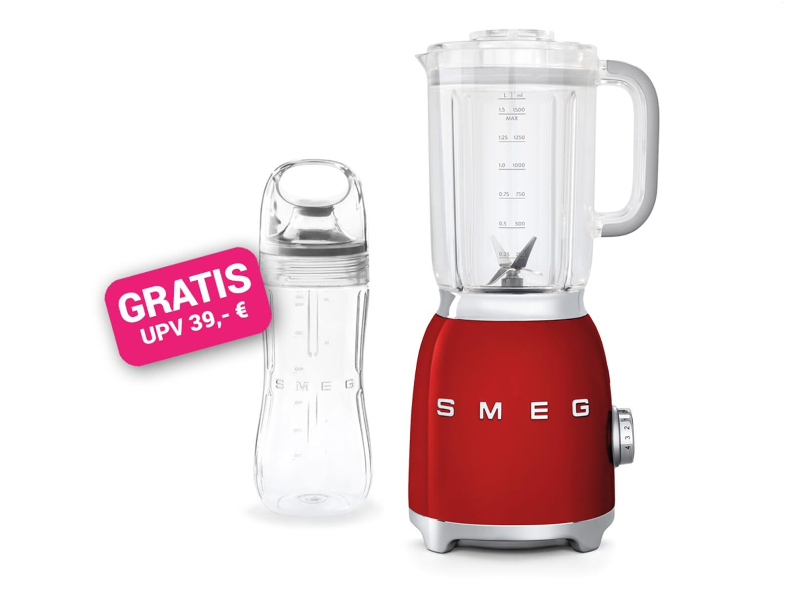 Smeg BLF01RDEU Standmixer Rot inkl. GRATIS Trinkflasche BGF01