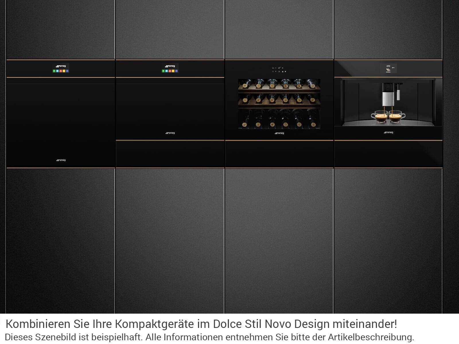 Smeg CMS4604NR Einbau-Espresso-/Kaffeevollautomat Schwarzglas/Kupfer