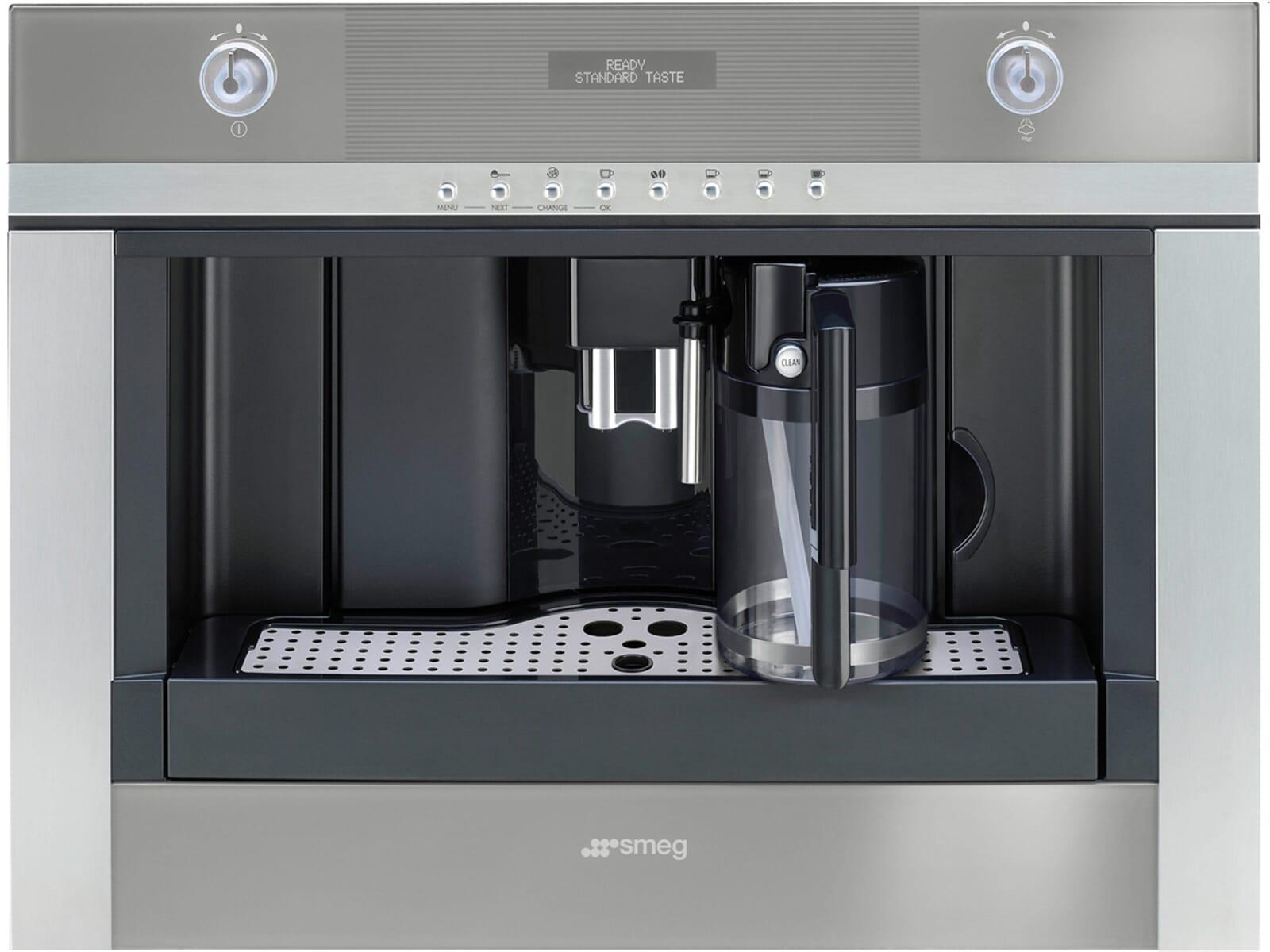 smeg cmsc451 einbau espresso kaffeevollautomat edelstahl. Black Bedroom Furniture Sets. Home Design Ideas