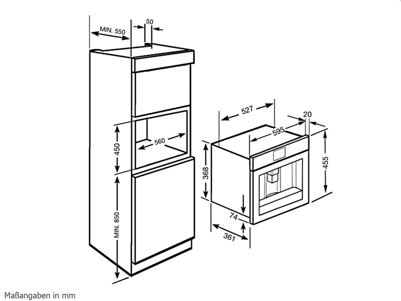 Smeg CMSC451 Einbau-Espresso-/Kaffeevollautomat Edelstahl
