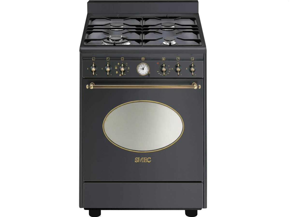 Smeg CO68GMAD8 Gas Kombi Standherd Anthrazit