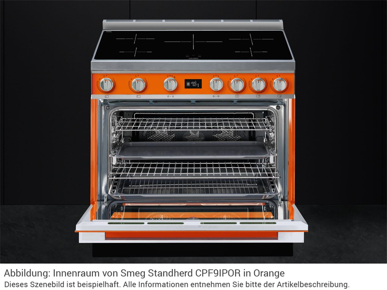 Smeg CPF9IPX Induktion Standherd Edelstahl