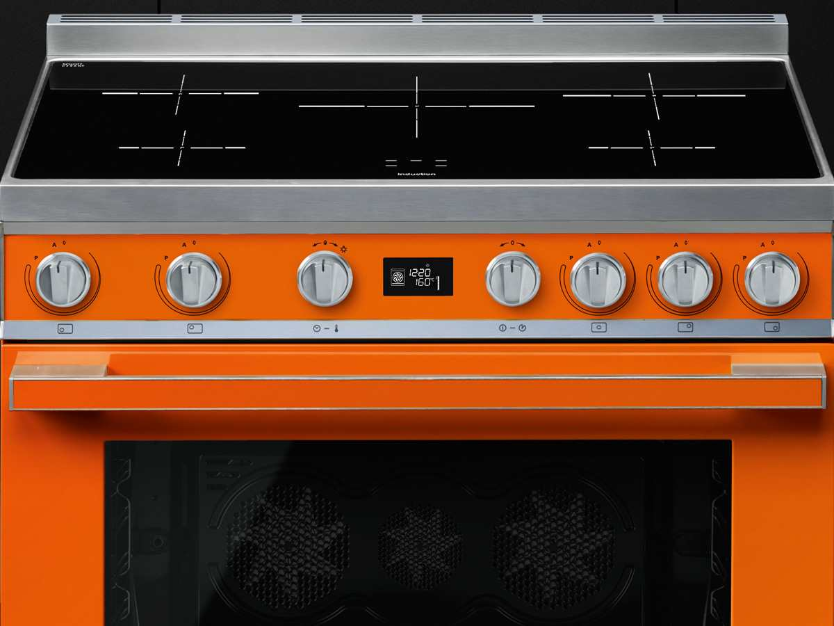 Smeg CPF9IPOR Induktion Standherd Orange