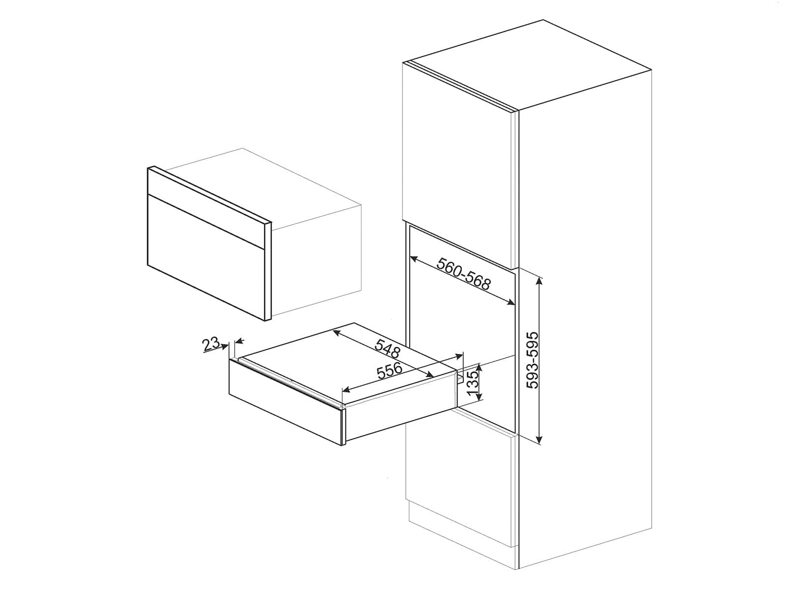 Smeg CPR115N Wärmeschublade Schwarzglas