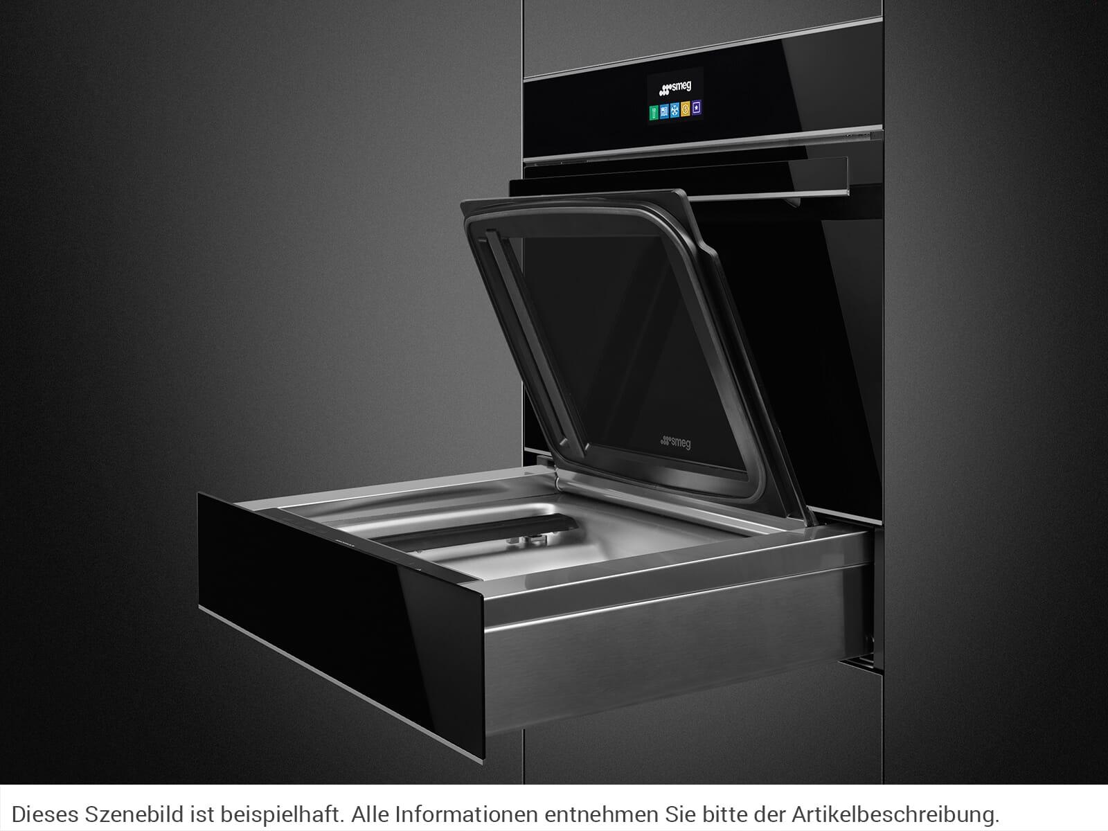 Smeg CPV615NX Vakuumierschublade Schwarzglas/Edelstahl