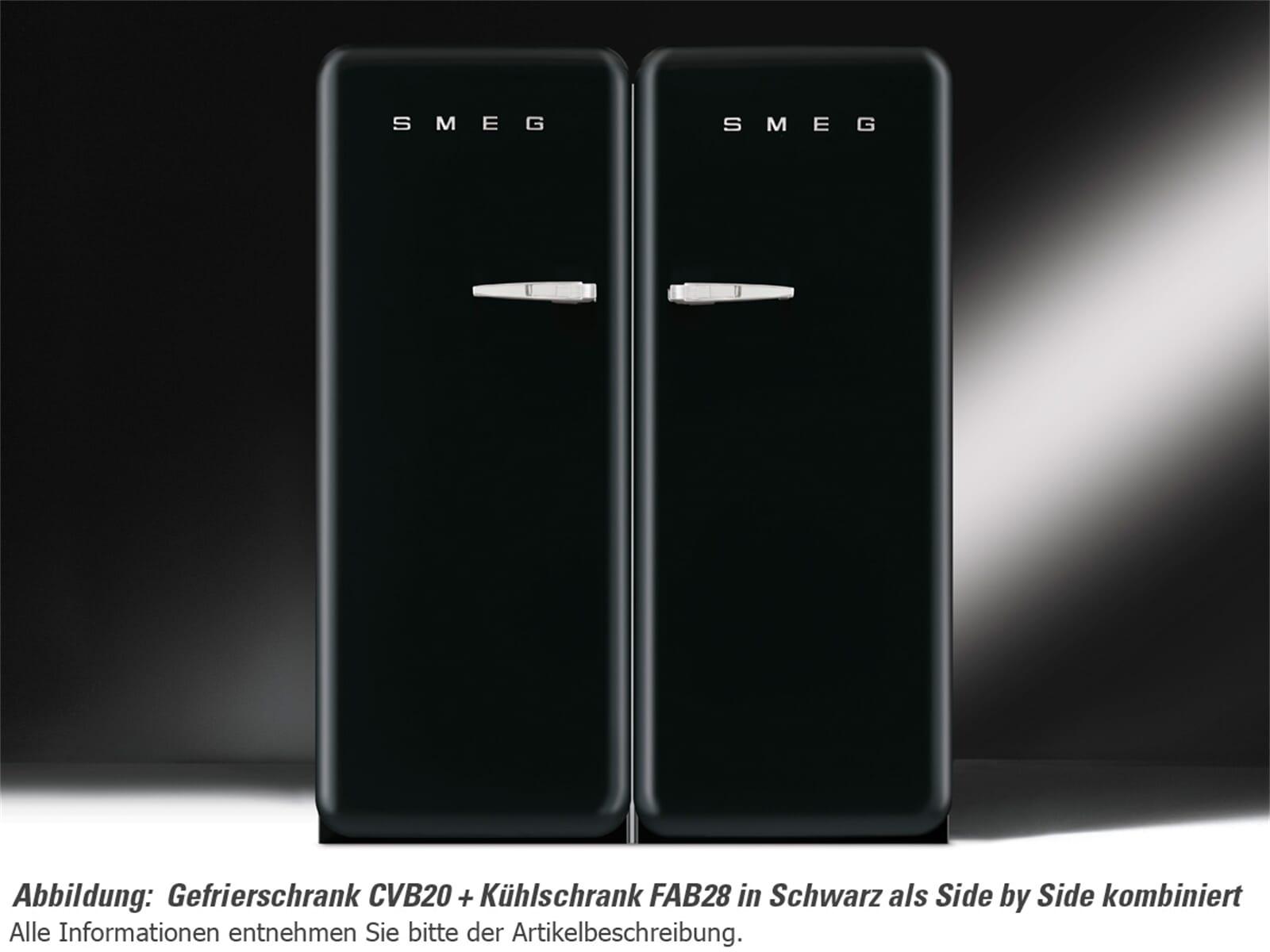 Smeg Kühlschrank Side By Side : Smeg fab28rne1 standkühlschrank schwarz