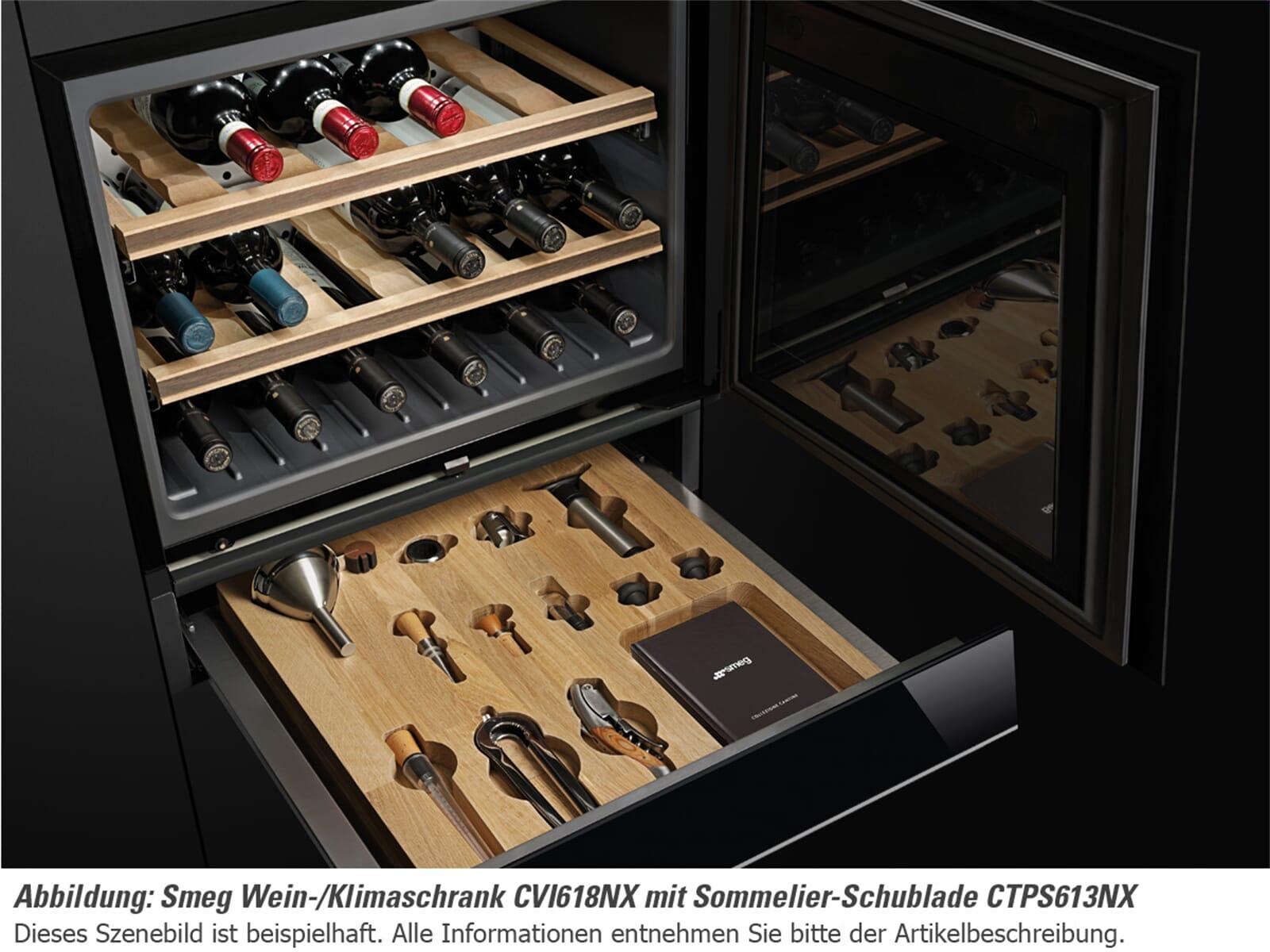 Smeg Cvi618nxs Einbau Weinkuhlschrank Weinklimaschrank Schwarzglas