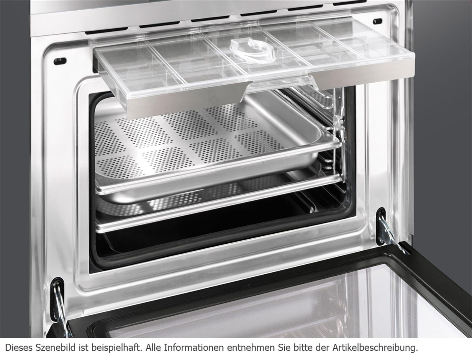 Smeg SF4140VCN Kompakt Dampfbackofen Schwarz