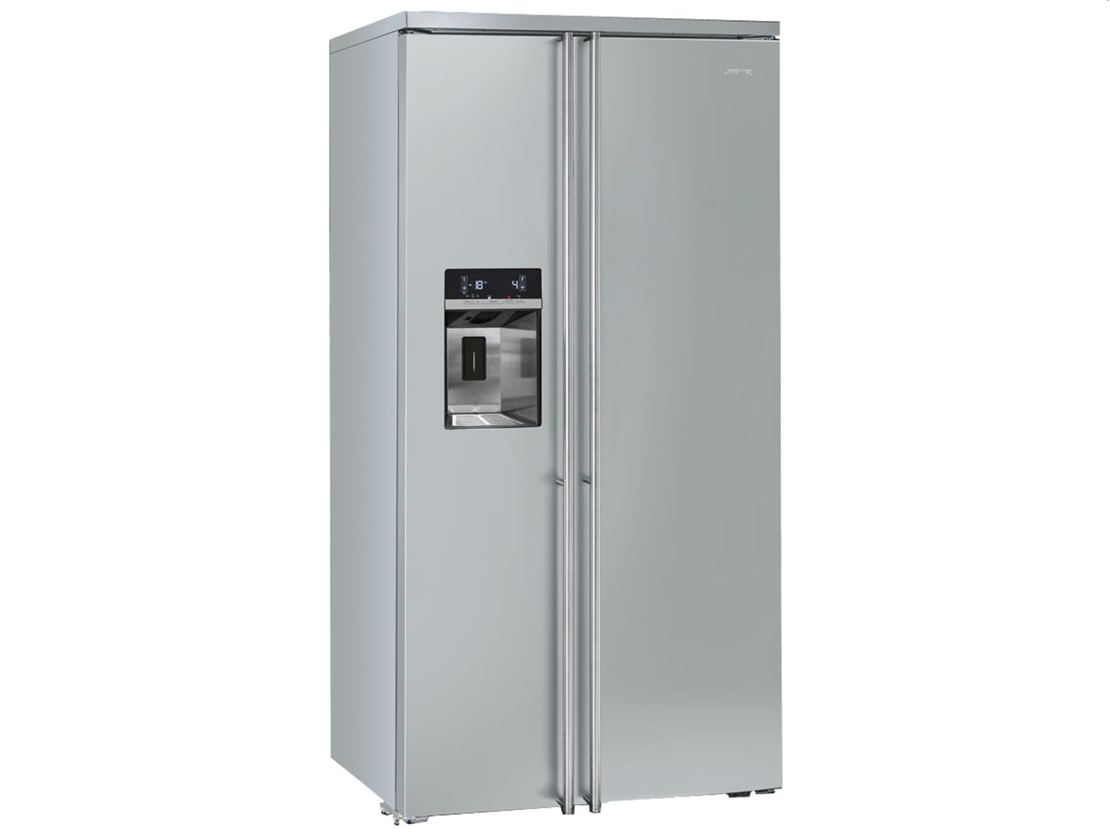 Smeg Kühlschrank 70 Cm : Smeg fa side by side kühl gefrier kombination edelstahl