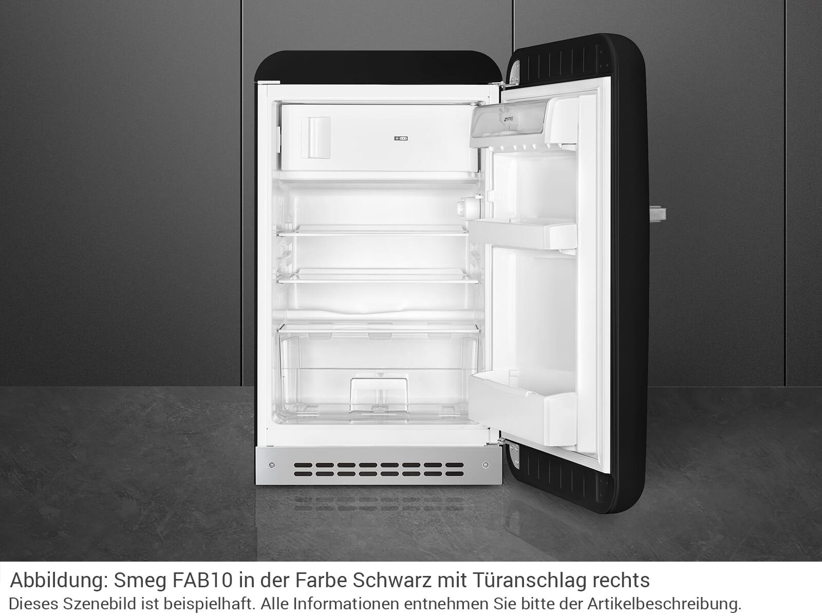 Smeg FAB10RNE Standkühlschrank Schwarz