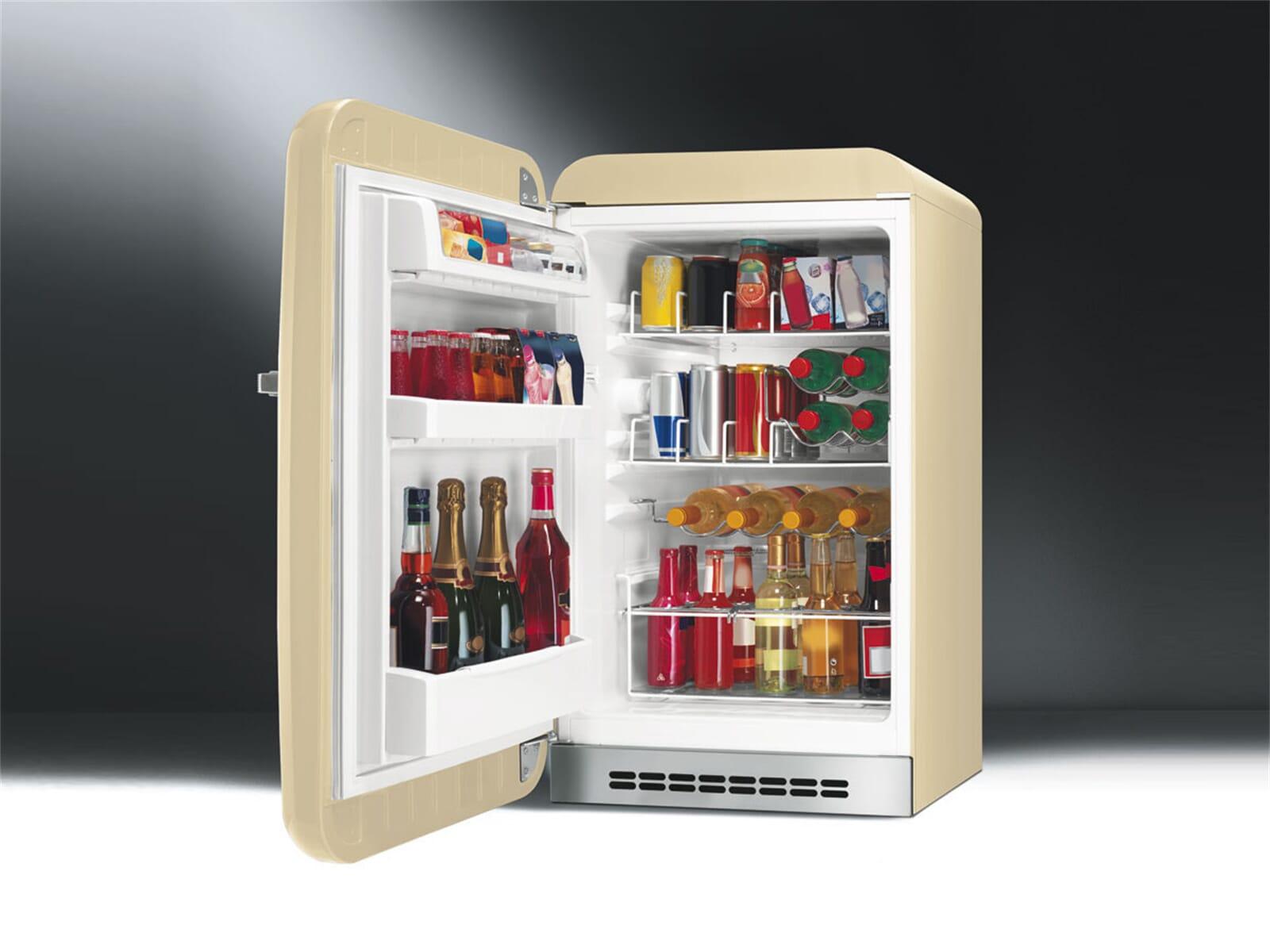Smeg FAB10HLP Stand Flaschenkühlschrank Creme