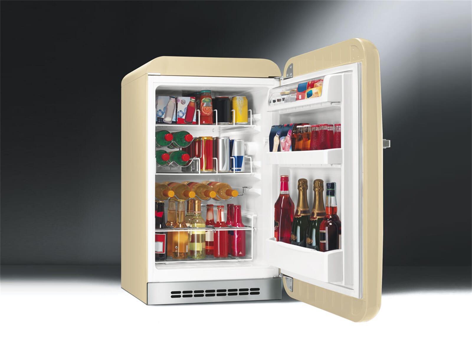 Smeg FAB10HRP Stand Flaschenkühlschrank Creme