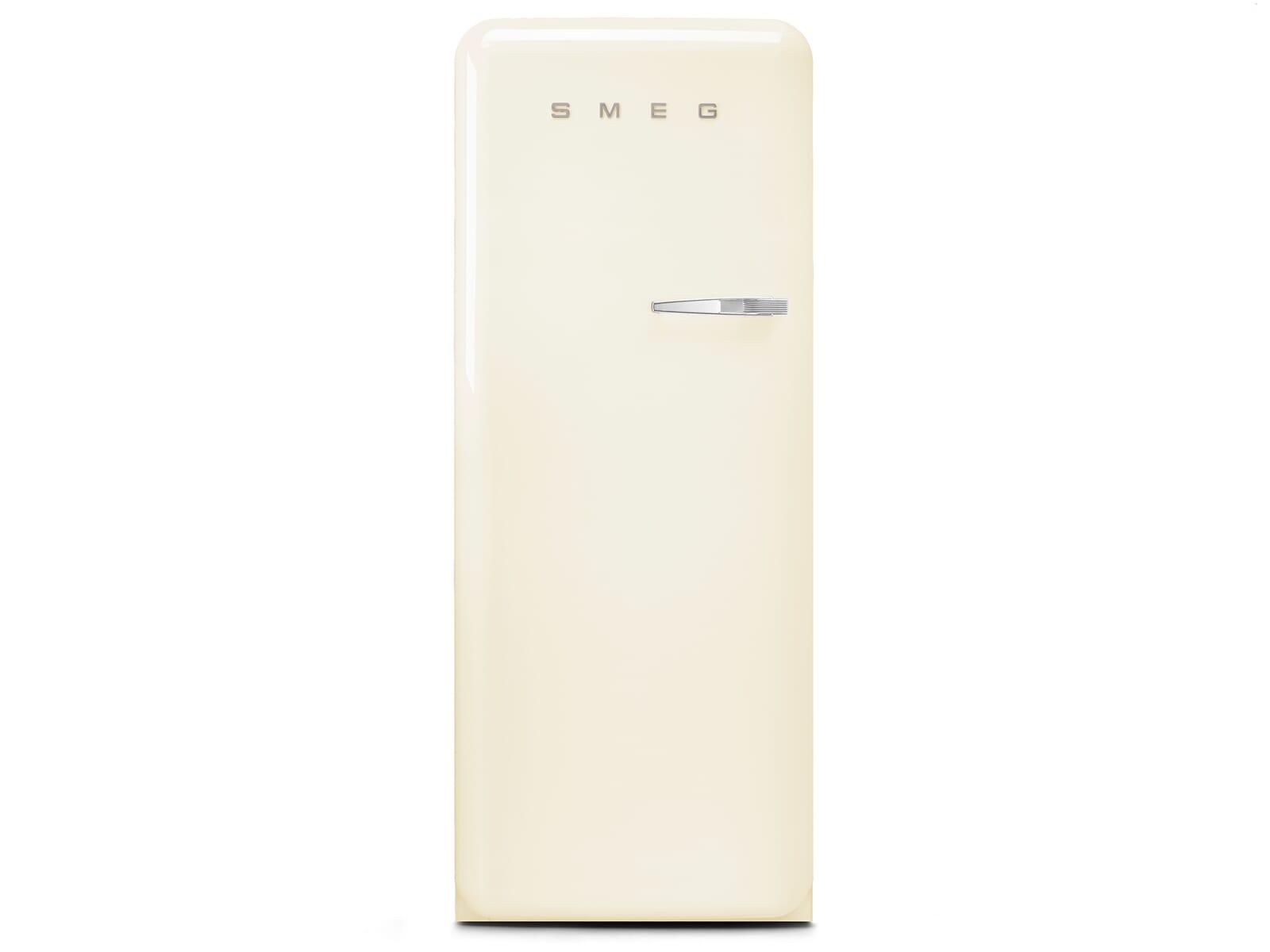 Retro Kühlschrank Linksanschlag : Smeg fab lcr standkühlschrank creme