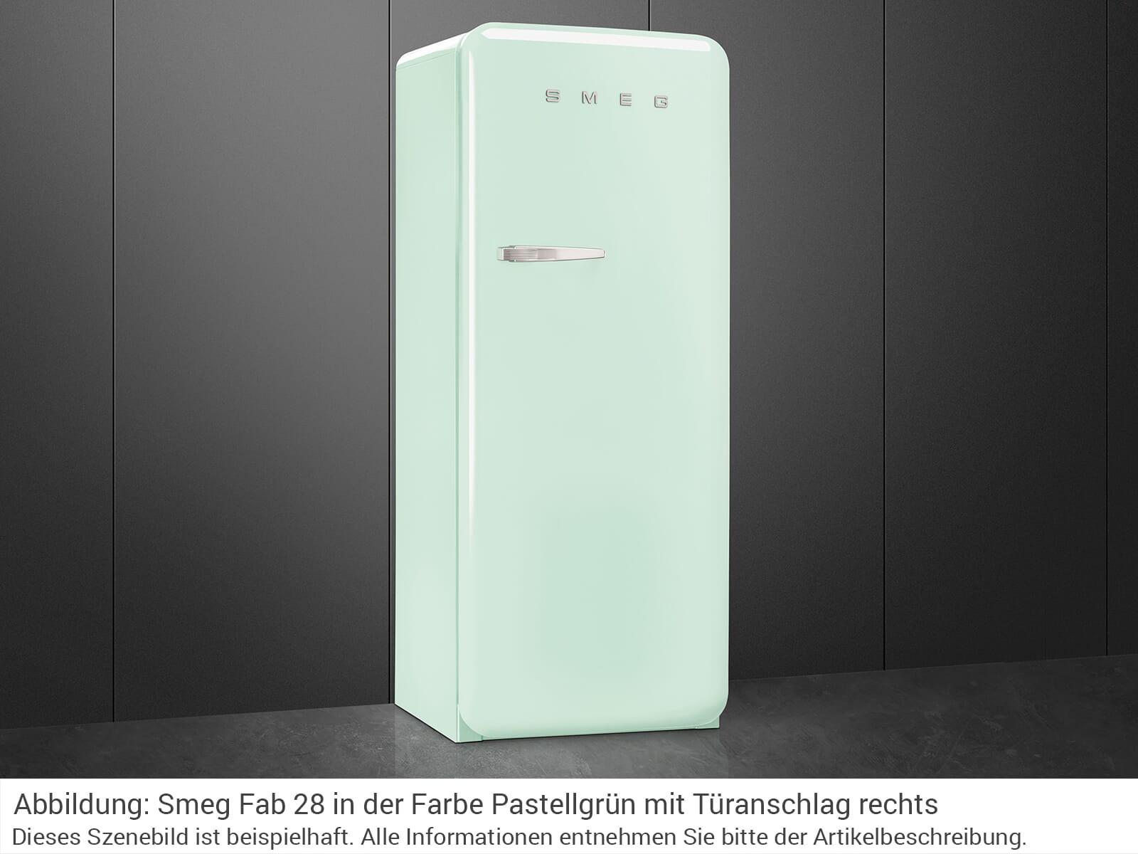 Smeg Kühlschrank Pastellgrün : Smeg fab lpg standkühlschrank pastellgrün