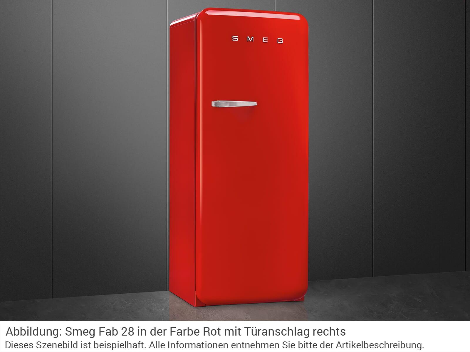Smeg FAB28LRD3 Standkühlschrank Rot