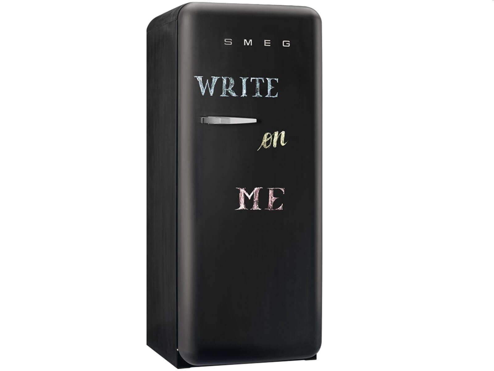 Smeg FAB28RDBB Standkühlschrank Write on Me Schiefertafel-Oberfläche