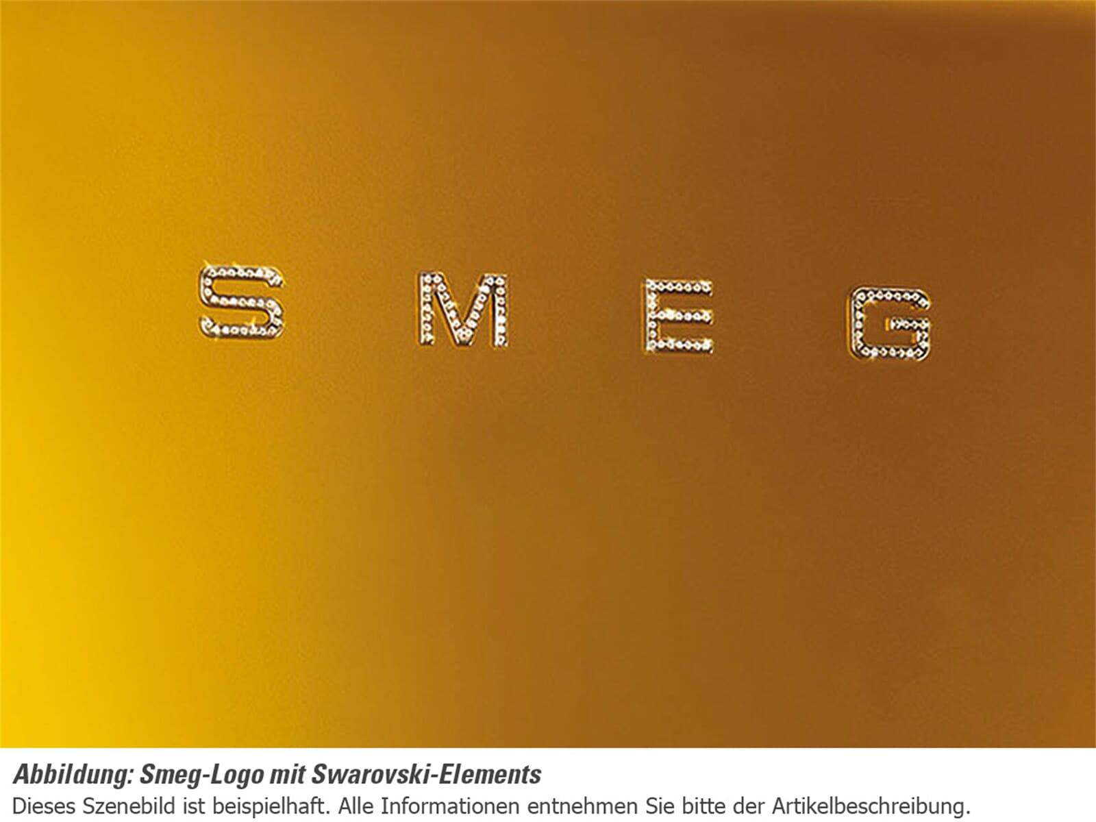 Smeg FAB28RDG Standkühlschrank Gold/Swarovski Elemente