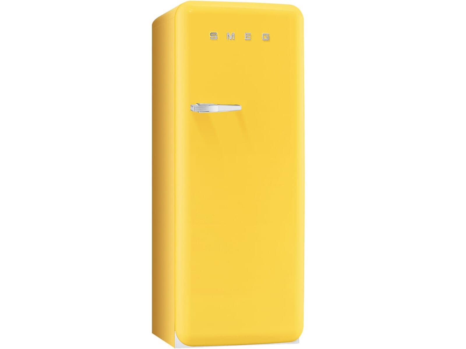 Retro Kühlschrank Pastellblau : Smeg fab28rg1 standkühlschrank sonnengelb