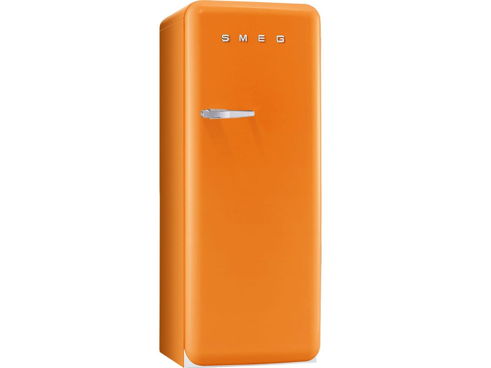 Retro Kühlschrank Orange : Smeg fab ro standkühlschrank orange