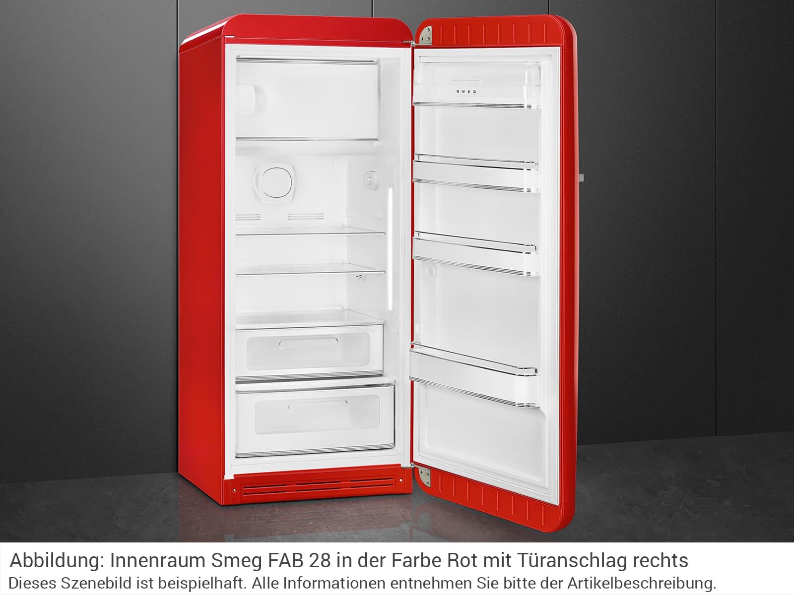 Smeg Kühlschrank Bedienungsanleitung : Smeg fab28rrd3 standkühlschrank rot