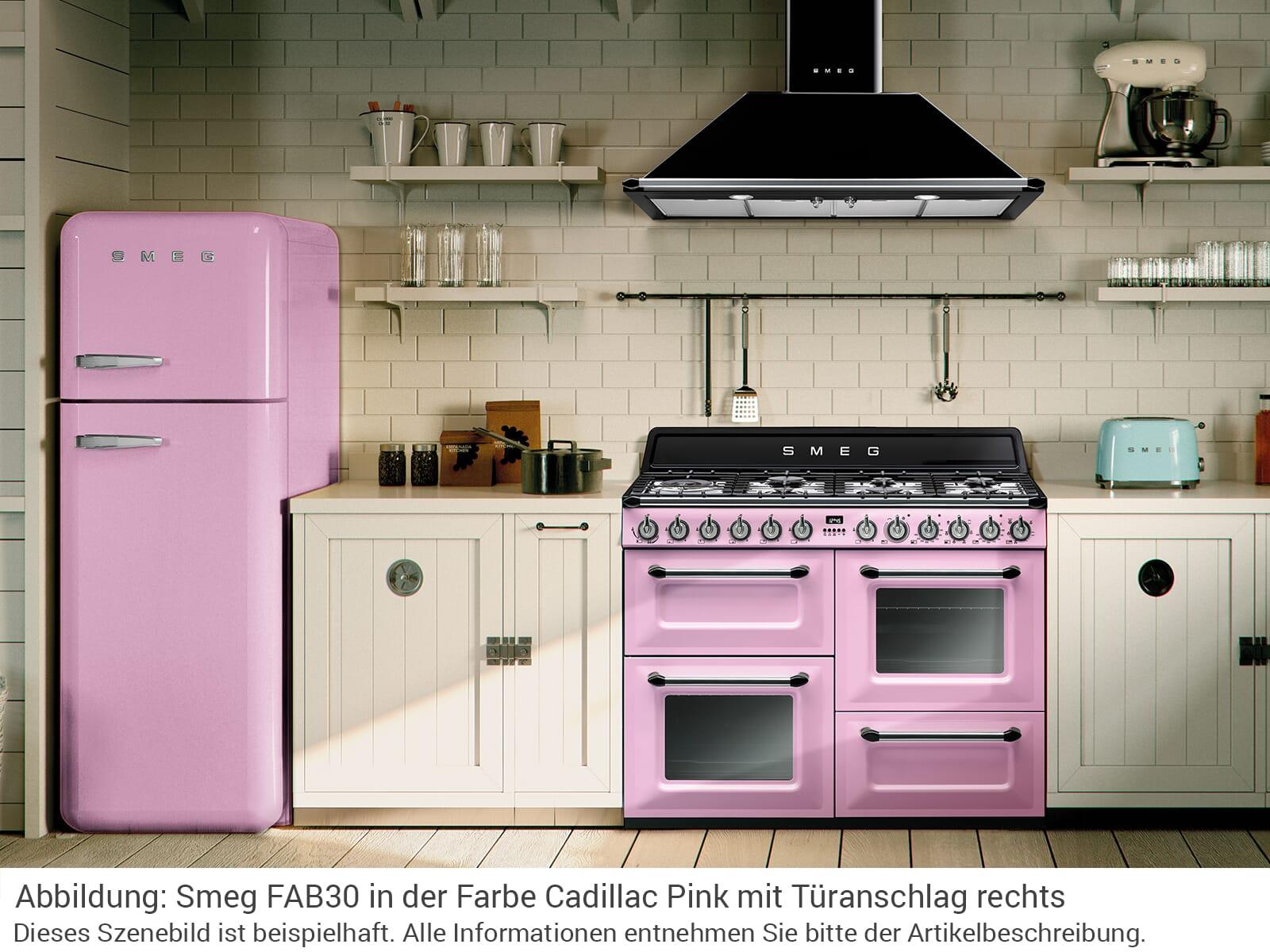 Smeg FAB30LPK3 Kühl-Gefrierkombination Cadillac Pink