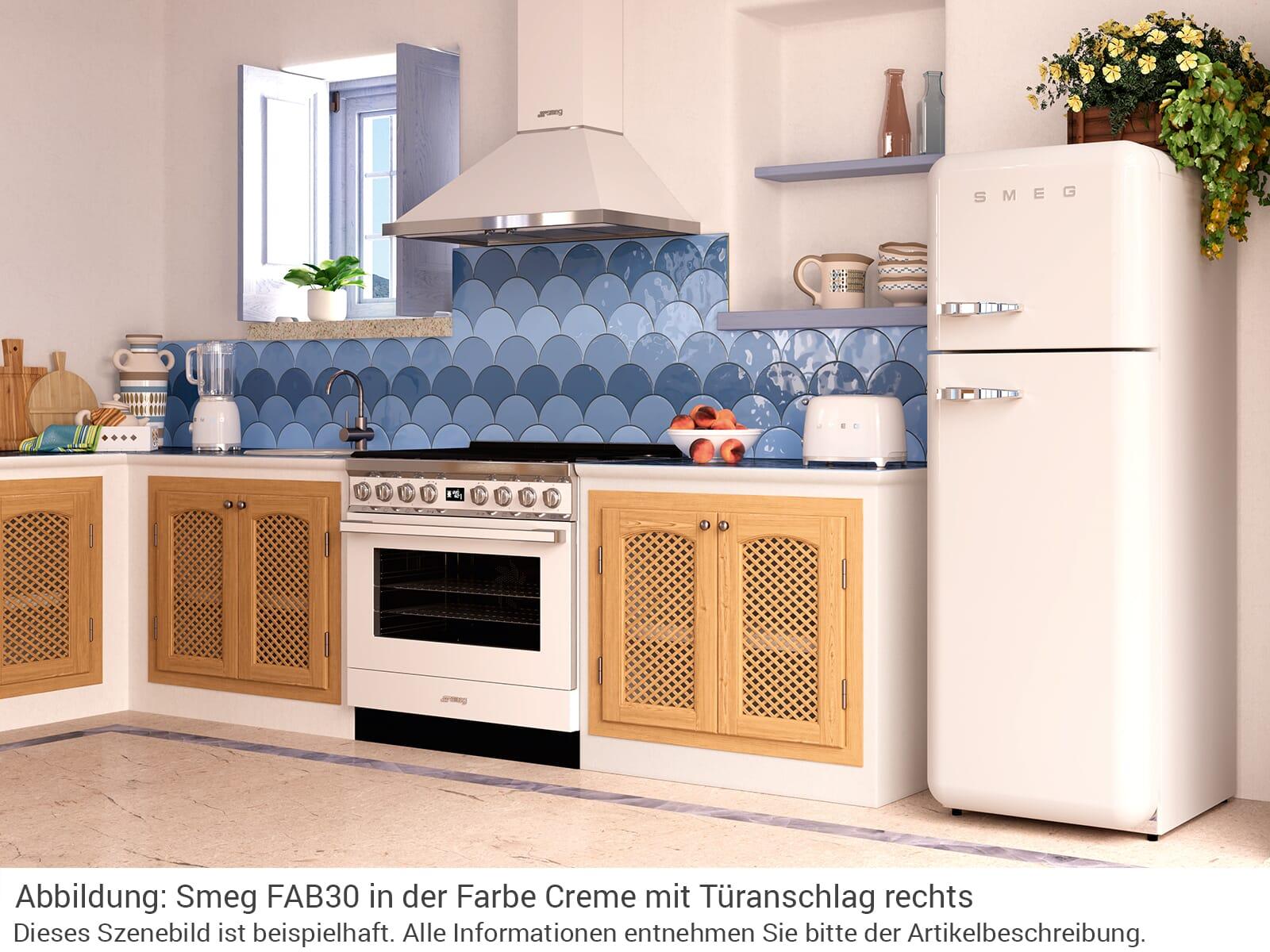 Smeg FAB30LCR5 Kühl-Gefrierkombination Creme