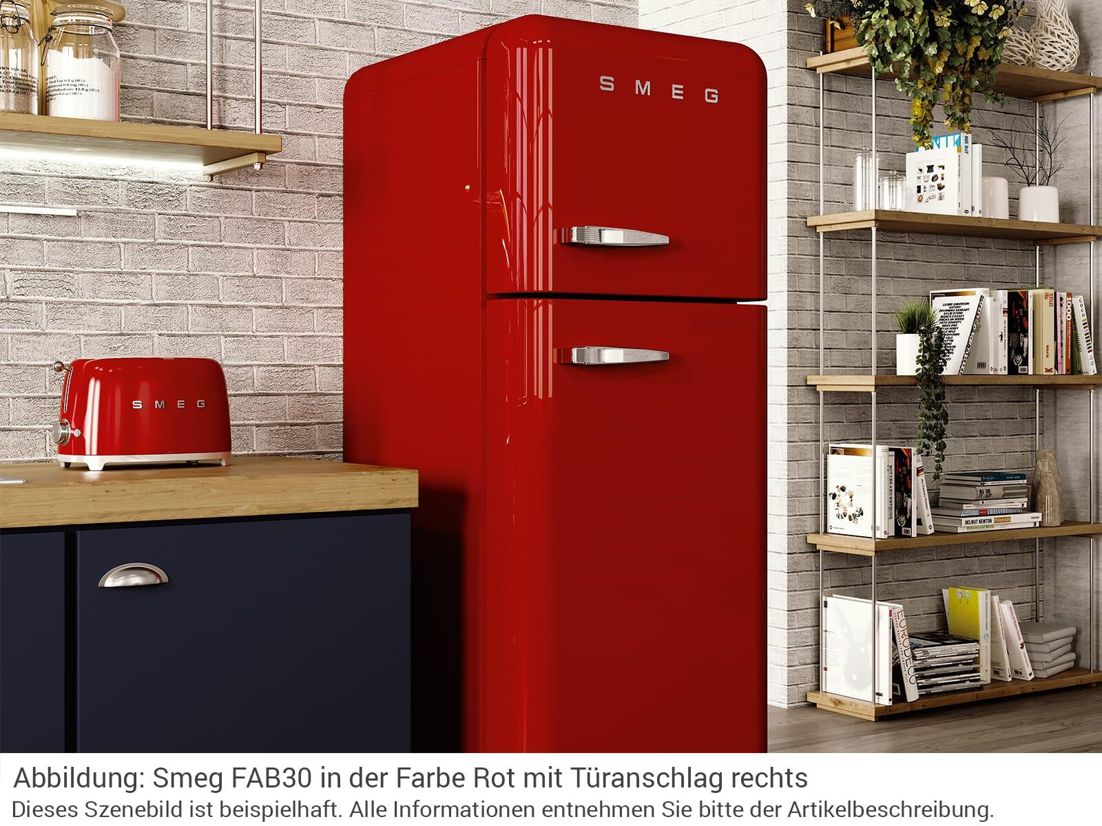 Smeg FAB30RRD3 Kühl-Gefrierkombination Rot